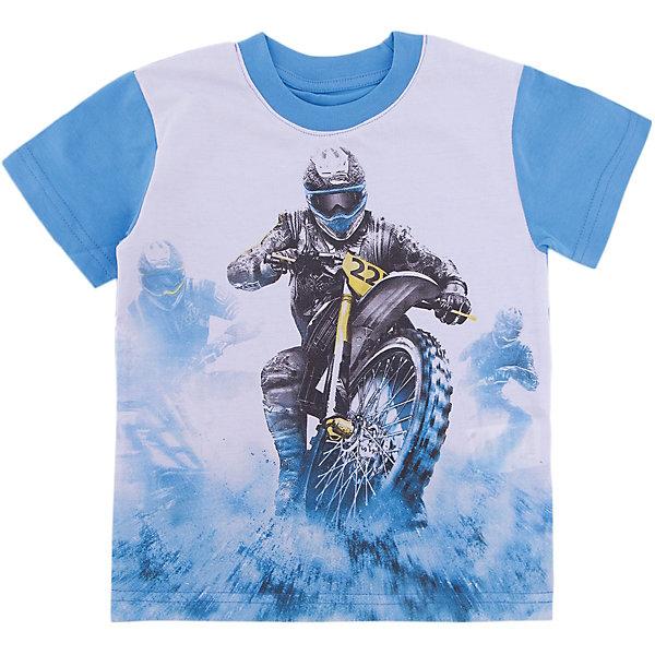 Футболка для мальчика WOWФутболки, поло и топы<br>Футболка для мальчика WOW<br>Незаменимой вещью в  гардеробе послужит футболка с коротким рукавом. Стильная и в тоже время комфортная модель, с яркой оригинальной печатью, будет превосходно смотреться на ребенке.<br>Состав:<br>кулирная гладь 100% хлопок<br><br>Ширина мм: 199<br>Глубина мм: 10<br>Высота мм: 161<br>Вес г: 151<br>Цвет: голубой<br>Возраст от месяцев: 24<br>Возраст до месяцев: 36<br>Пол: Мужской<br>Возраст: Детский<br>Размер: 98,122,116,110,104<br>SKU: 6871835