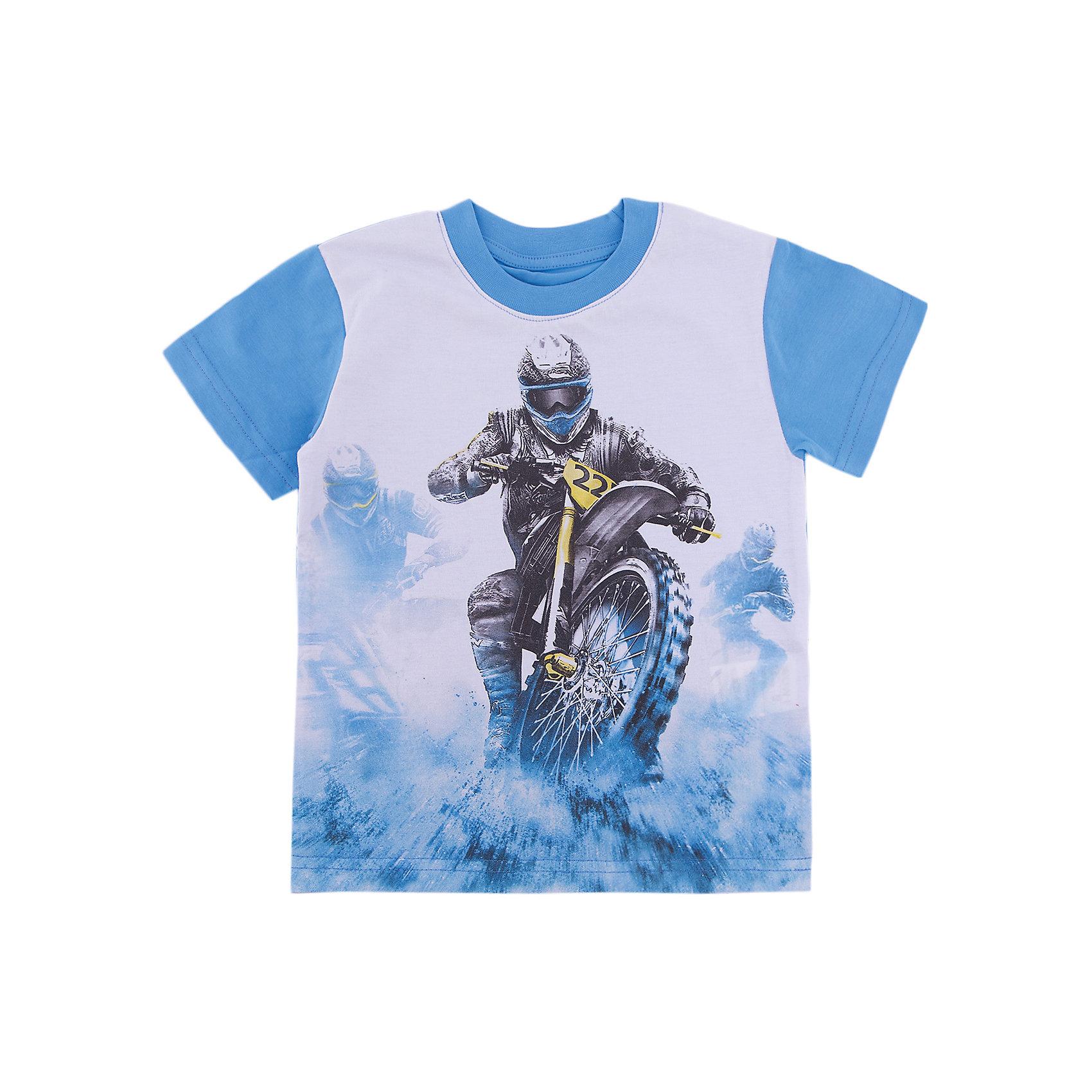 Футболка для мальчика WOWФутболки, поло и топы<br>Футболка для мальчика WOW<br>Незаменимой вещью в  гардеробе послужит футболка с коротким рукавом. Стильная и в тоже время комфортная модель, с яркой оригинальной печатью, будет превосходно смотреться на ребенке.<br>Состав:<br>кулирная гладь 100% хлопок<br><br>Ширина мм: 199<br>Глубина мм: 10<br>Высота мм: 161<br>Вес г: 151<br>Цвет: голубой<br>Возраст от месяцев: 72<br>Возраст до месяцев: 84<br>Пол: Мужской<br>Возраст: Детский<br>Размер: 122,98,104,110,116<br>SKU: 6871835