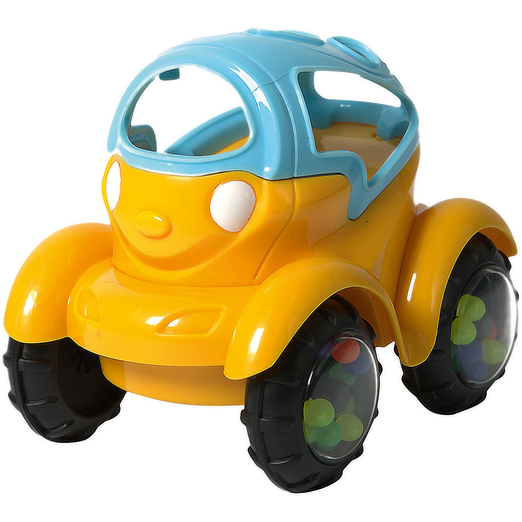 Машинка-неразбивайка Baby Trend, сине-желтаяМашинки и транспорт для малышей<br>Характеристики:<br><br>• возраст: от 3 месяцев<br>• машинка-погремушка<br>• материал: мягкий гибкий пластик<br>• размер игрушки: 10х11,5х8 см.<br>• размер упаковки: 18х11,5х8 см<br>• вес: 153 гр.<br><br>Яркая машинка-неразбивайка от Baby Trend (Беби Тренд) – это первая машина малыша. Она изготовлена из мягкого гибкого высококачественного пластика. Машинка не имеет острых и опасных выступов. Благодаря уникальной форме ее удобно держать маленькими пальчиками.<br><br>В колесах машинки под прозрачными дисками находятся цветные шарики, которые задорно гремят при движении машинки или при встряхивании игрушки. Мягкие рельефные детали крыши можно кусать, они успокоят нежные десна малыша.<br><br>Машинку-неразбивайку, сине-желтую, Baby Trend (Беби Тренд) можно купить в нашем интернет-магазине.<br><br>Ширина мм: 114<br>Глубина мм: 97<br>Высота мм: 87<br>Вес г: 153<br>Возраст от месяцев: 3<br>Возраст до месяцев: 2147483647<br>Пол: Унисекс<br>Возраст: Детский<br>SKU: 6872163