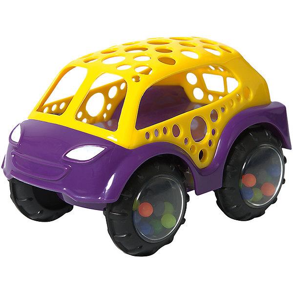 Машинка-неразбивайка Baby Trend, желто-фиолетоваяКаталки и качалки<br>Характеристики:<br><br>• возраст: от 3 месяцев<br>• машинка-погремушка<br>• материал: мягкий гибкий пластик<br>• размер игрушки: 9х12х8 см.<br>• размер упаковки: 15х11,5х8 см.<br>• вес: 153 гр.<br><br>Яркая машинка-неразбивайка от Baby Trend (Беби Тренд) – это первая машина малыша. Она изготовлена из мягкого гибкого высококачественного пластика. Машинка не имеет острых и опасных выступов. Благодаря уникальной форме ее удобно держать маленькими пальчиками.<br><br>В колесах машинки под прозрачными дисками находятся цветные шарики, которые задорно гремят при движении машинки или при встряхивании игрушки. Мягкие рельефные детали крыши можно кусать, они успокоят нежные десна малыша.<br><br><br>Машинку-неразбивайку, желто-фиолетовую, Baby Trend (Беби Тренд) можно купить в нашем интернет-магазине.<br>Ширина мм: 130; Глубина мм: 78; Высота мм: 87; Вес г: 153; Возраст от месяцев: 3; Возраст до месяцев: 2147483647; Пол: Унисекс; Возраст: Детский; SKU: 6872164;