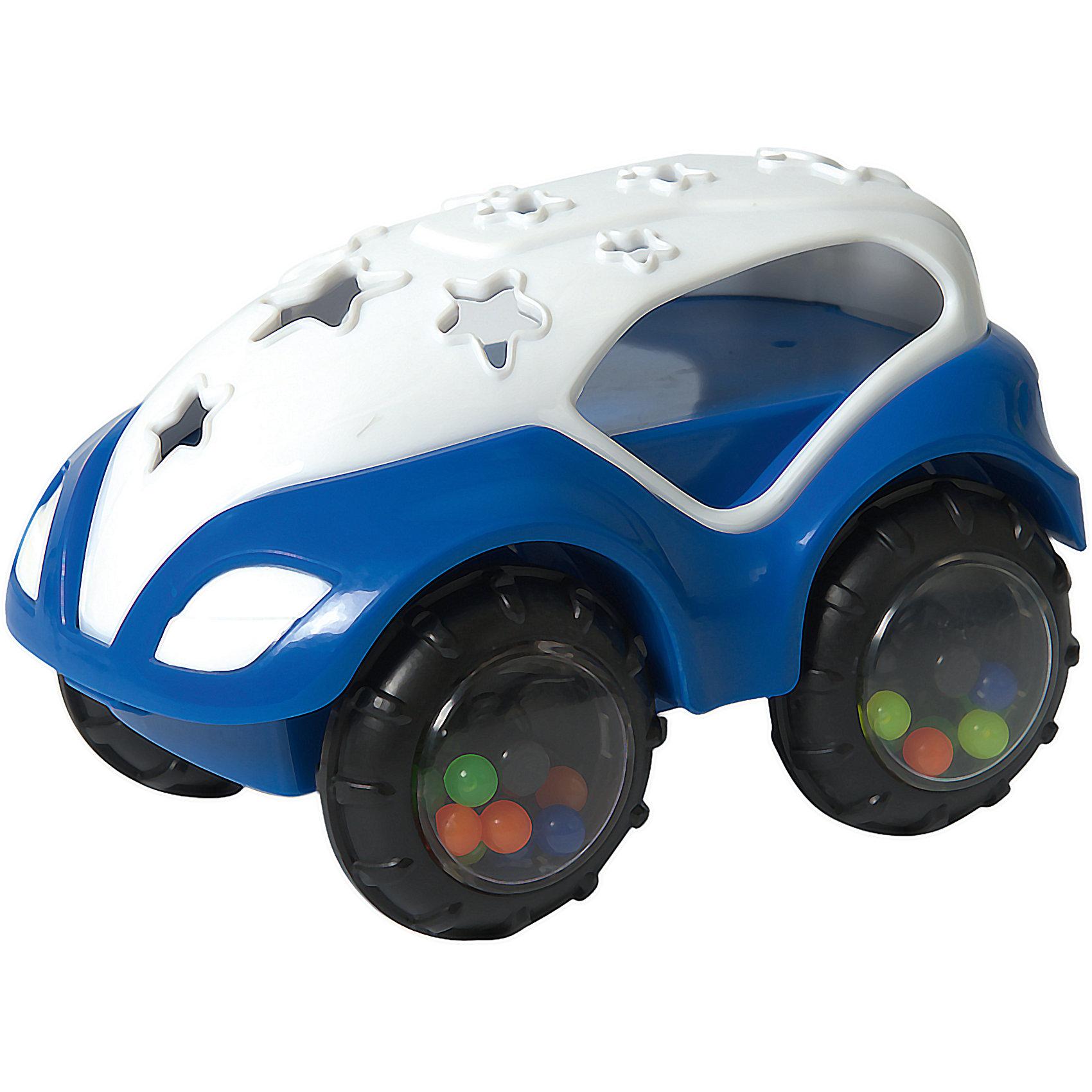 RU Машинка-неразбивайка  Baby Trend бело-синяяМашинки и транспорт для малышей<br>Характеристики:<br><br>• возраст: от 3 месяцев<br>• машинка-погремушка<br>• материал: мягкий гибкий пластик<br>• размер игрушки: 7,5х12,5х8 см.<br>• размер упаковки: 18х11,5х8 см.<br>• вес: 153 гр.<br><br>Яркая машинка-неразбивайка от Baby Trend (Беби Тренд) – это первая машина малыша. Она изготовлена из мягкого гибкого высококачественного пластика. Машинка не имеет острых и опасных выступов. Благодаря уникальной форме ее удобно держать маленькими пальчиками.<br><br>В колесах машинки под прозрачными дисками находятся цветные шарики, которые задорно гремят при движении машинки или при встряхивании игрушки. Мягкие рельефные детали крыши можно кусать, они успокоят нежные десна малыша.<br><br>Машинку-неразбивайку, бело-синюю, Baby Trend (Беби Тренд) можно купить в нашем интернет-магазине.<br><br>Ширина мм: 129<br>Глубина мм: 78<br>Высота мм: 87<br>Вес г: 153<br>Возраст от месяцев: 3<br>Возраст до месяцев: 2147483647<br>Пол: Унисекс<br>Возраст: Детский<br>SKU: 6872165