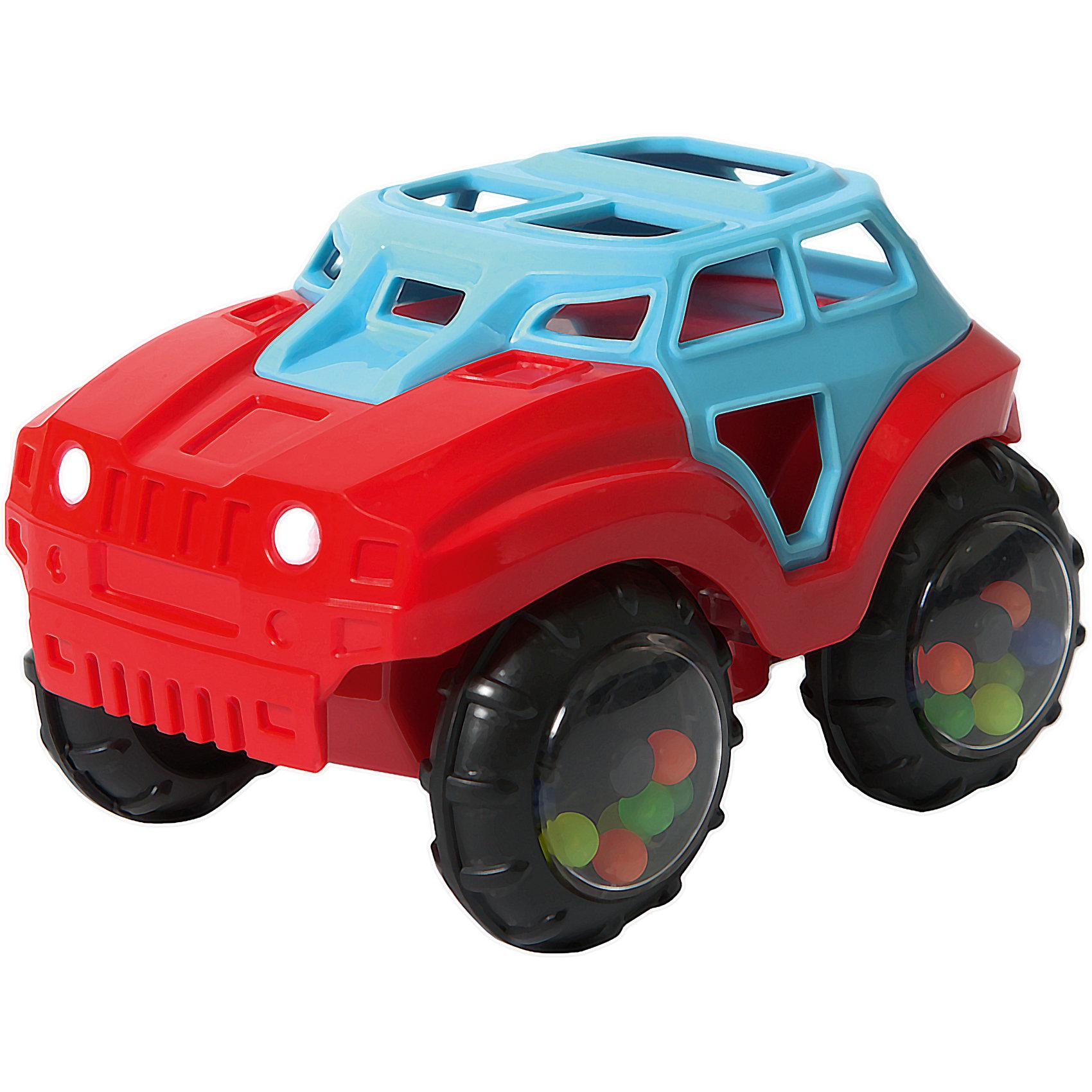 Машинка-неразбивайка Baby Trend, сине-краснаяМашинки и транспорт для малышей<br>Характеристики:<br><br>• возраст: от 3 месяцев<br>• машинка-погремушка<br>• материал: мягкий гибкий пластик<br>• размер игрушки: 10х11,5х8 см.<br>• размер упаковки: 18х11,5х8 см.<br>• вес: 153 гр.<br><br>Яркая машинка-неразбивайка от Baby Trend (Беби Тренд) – это первая машина малыша. Она изготовлена из мягкого гибкого высококачественного пластика. Машинка не имеет острых и опасных выступов. Благодаря уникальной форме ее удобно держать маленькими пальчиками.<br><br>В колесах машинки под прозрачными дисками находятся цветные шарики, которые задорно гремят при движении машинки или при встряхивании игрушки. Мягкие рельефные детали крыши можно кусать, они успокоят нежные десна малыша.<br><br>Машинку-неразбивайку, сине-красную, Baby Trend (Беби Тренд) можно купить в нашем интернет-магазине.<br><br>Ширина мм: 124<br>Глубина мм: 76<br>Высота мм: 87<br>Вес г: 153<br>Возраст от месяцев: 3<br>Возраст до месяцев: 2147483647<br>Пол: Унисекс<br>Возраст: Детский<br>SKU: 6872167