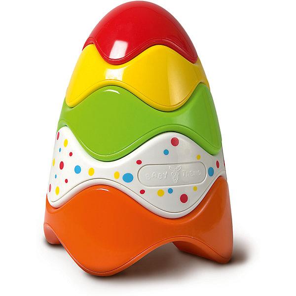 Пирамидка Baby TrendРазвивающие игрушки<br>Характеристики:<br><br>• возраст: от 1 года<br>• количество элементов: 5<br>• материал: пластик<br>• размер игрушки: 18х13 см.<br>• размер упаковки: 21х14х14 см.<br>• вес: 153 гр.<br><br>Яркая разноцветная пирамидка с колечками необычной формы – отличная развивающая игрушка для самых маленьких. Благодаря уникальной форме колечек пирамидка собирается без стержня-подставки, при этом разноцветные колечки можно складывать в любом порядке. Пирамидку удобно собирать маленькими ручками.<br><br>Пирамидка от Baby Trend (Беби Тренд) развивает моторику, цветовое восприятие, логические навыки, знакомит малышей со свойствами предметов и их величиной.<br><br>Пирамидку, Baby Trend (Беби Тренд) можно купить в нашем интернет-магазине.<br><br>Ширина мм: 140<br>Глубина мм: 205<br>Высота мм: 140<br>Вес г: 153<br>Возраст от месяцев: 12<br>Возраст до месяцев: 2147483647<br>Пол: Унисекс<br>Возраст: Детский<br>SKU: 6872168