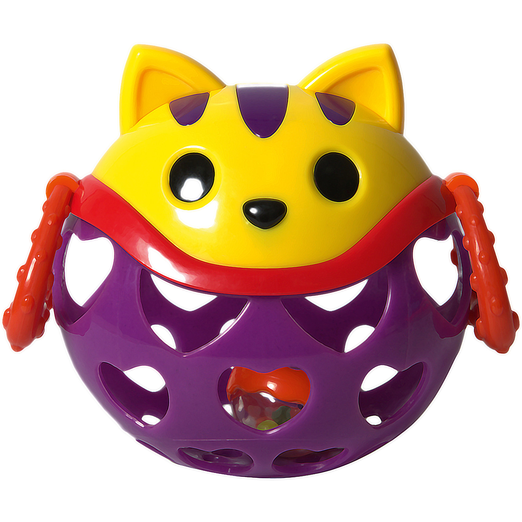 Игрушка-неразбивайка Кошка, Baby TrendПогремушки<br>Смешной котёнок – играй, веселись и развивайся!<br><br>Внутри игрушки спрятана погремушка, которая издают забавнёт звуки, когда малыш трясёт её<br>Рельефные ручки можно использовать в качестве прорезывателей для зубок – они успокоят нежные дёсны малыша<br>Благодаря уникальной форме игрушку удобно держать маленькими пальчиками<br>Выполнена из мягкого гибкого пластика<br>Развивает моторику, слух, зрение<br><br>Размер игрушки: 11 х 11,5 см х 7,5 см<br>Размер упаковки: 16,5 х 11,5 х 7,5 см<br><br>Ширина мм: 140<br>Глубина мм: 135<br>Высота мм: 105<br>Вес г: 181<br>Возраст от месяцев: 3<br>Возраст до месяцев: 2147483647<br>Пол: Унисекс<br>Возраст: Детский<br>SKU: 6872171