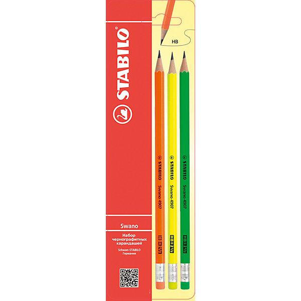 Карандаши чернографитные Неон HB  3штПисьменные принадлежности<br>Характеристики:<br><br>• возраст: от 3 лет<br>• в наборе: 3 чернографитных карандаша<br>• толщина линии: 0,5 мм.<br>• твердость: НВ<br>• материал корпуса: древесина<br>• размер упаковки: 21х8 см.<br><br>Чернографитный карандаш с ластиком отлично подойдет для чертежных работ любой сложности. Стержень не будет крошиться при затачивании, поскольку приклеен по всей длине. После стирания карандаш не оставляет разводов на бумаге. Закаленный графит пепельного цвета легко и аккуратно сможет провести линию необходимой толщины. Корпус изготовлен из высококачественной древесины.<br><br>Карандаши чернографитные Неон HB  3шт можно купить в нашем интернет-магазине.<br>Ширина мм: 21; Глубина мм: 8; Высота мм: 1; Вес г: 24; Возраст от месяцев: 36; Возраст до месяцев: 2147483647; Пол: Унисекс; Возраст: Детский; SKU: 6873774;