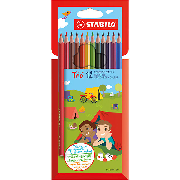 Карандаши цветные 12цв TRIOПисьменные принадлежности<br>Характеристики:<br><br>• возраст: от 3 лет<br>• в наборе: 12 цветных карандашей<br>• длина: 17,5 см.<br>• диаметр: 7 мм.<br>• трехгранный корпус<br>• материал корпуса: древесина<br>• упаковка: картонный футляр<br>• размер упаковки: 17,5х9,5х1 см.<br><br>Карандаши трехгранной формы особенно удобны для детской руки, поэтому ребенок может долго рисовать без усталости. Карандаши не ломаются при рисовании и затачивании. Насыщенные цвета имеют высокую светостойкость. Цвета отлично смешиваются и позволяют создать огромное количество оттенков.<br><br>Карандаши цветные 12цв TRIO можно купить в нашем интернет-магазине.<br><br>Ширина мм: 10<br>Глубина мм: 175<br>Высота мм: 95<br>Вес г: 70<br>Возраст от месяцев: 36<br>Возраст до месяцев: 2147483647<br>Пол: Унисекс<br>Возраст: Детский<br>SKU: 6873779