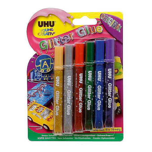 Клеящие блестки 6*10мл GLITTER GLUEАксессуары для творчества<br>Характеристики:<br><br>• возраст: от 3 лет<br>• в наборе: 6 тюбиков по 10 мл.<br>• упаковка: блистер<br>• размер упаковки: 19х13,5х1,5 см.<br><br>Разноцветные клеящие блёстки предназначены для декорирования украшений с эффектом блеска на различных поверхностях. Идеально подходят для декорирования различных предметов в домашних условиях. Очень мягкий тюбик с тонким наконечником облегчает точное дозирование. Клеящие блестки не стекают и не образуют нитей.<br><br>Клеящие блестки 6*10мл GLITTER GLUE можно купить в нашем интернет-магазине.<br><br>Ширина мм: 190<br>Глубина мм: 15<br>Высота мм: 135<br>Вес г: 65<br>Возраст от месяцев: 36<br>Возраст до месяцев: 2147483647<br>Пол: Унисекс<br>Возраст: Детский<br>SKU: 6873790