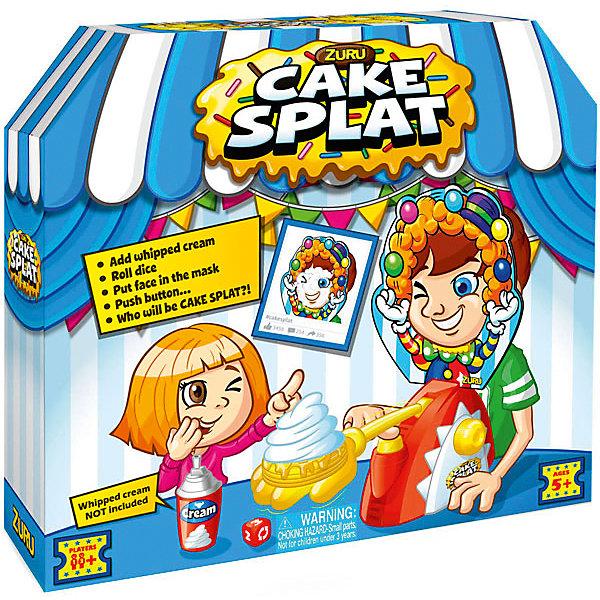 Игра Торт в лицо, ZURUНастольные игры для всей семьи<br>Характеристики товара:<br><br>• возраст: от 5 лет;<br>• материал: пластик, картон;<br>• в комплекте: игровая рука, маска, подставка для подбородка, метательный механизм, игральные кубики;<br>• количество игроков: от 2 человек;<br>• размер упаковки: 30х28х8 см;<br>• вес упаковки: 515 гр.;<br>• страна производитель: Китай.<br><br>Игра «Торт в лицо» Zuru — смешная и забавная игра для компании от 2 человек. Сначала игроки бросают кубики. Тот, кому выпадает жребий, одевает на себя маску и крутит рычажок. Если повезет, то в лицо ему не попадут сливки или торт, а если нет, то можно оказаться полностью в лакомстве.<br><br>Игру «Торт в лицо» Zuru можно приобрести в нашем интернет-магазине.<br>Ширина мм: 300; Глубина мм: 80; Высота мм: 280; Вес г: 588; Возраст от месяцев: 60; Возраст до месяцев: 2147483647; Пол: Унисекс; Возраст: Детский; SKU: 6873816;