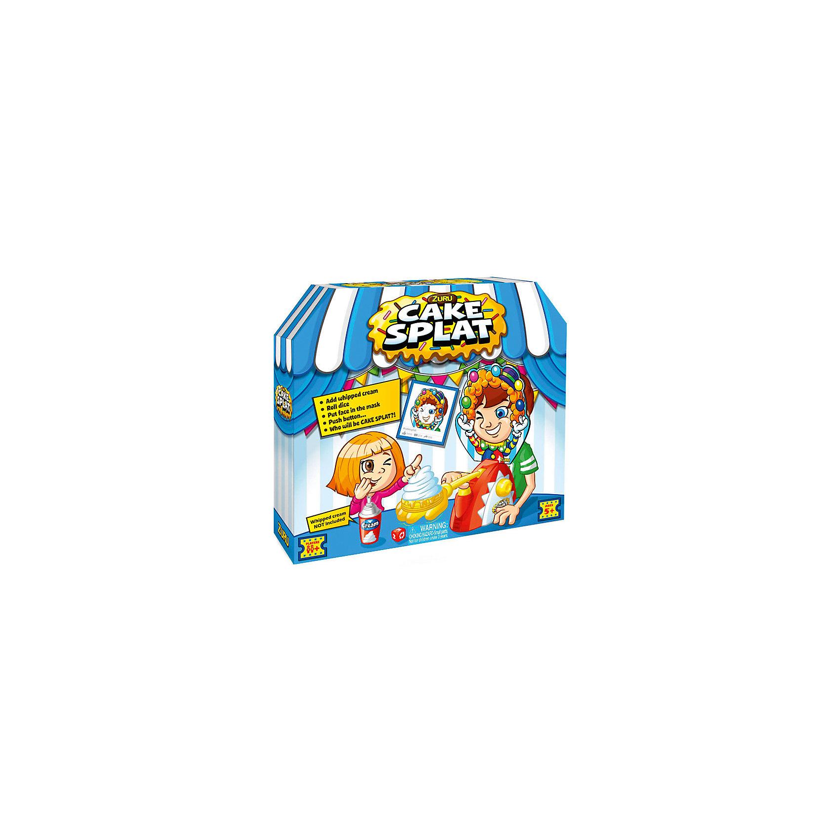 Игра Торт в лицо, ZURUИгры для развлечений<br>Характеристики товара:<br><br>• возраст: от 5 лет;<br>• материал: пластик, картон;<br>• в комплекте: игровая рука, маска, подставка для подбородка, метательный механизм, игральные кубики;<br>• количество игроков: от 2 человек;<br>• размер упаковки: 30х28х8 см;<br>• вес упаковки: 515 гр.;<br>• страна производитель: Китай.<br><br>Игра «Торт в лицо» Zuru — смешная и забавная игра для компании от 2 человек. Сначала игроки бросают кубики. Тот, кому выпадает жребий, одевает на себя маску и крутит рычажок. Если повезет, то в лицо ему не попадут сливки или торт, а если нет, то можно оказаться полностью в лакомстве.<br><br>Игру «Торт в лицо» Zuru можно приобрести в нашем интернет-магазине.<br><br>Ширина мм: 300<br>Глубина мм: 80<br>Высота мм: 280<br>Вес г: 588<br>Возраст от месяцев: 60<br>Возраст до месяцев: 2147483647<br>Пол: Унисекс<br>Возраст: Детский<br>SKU: 6873816