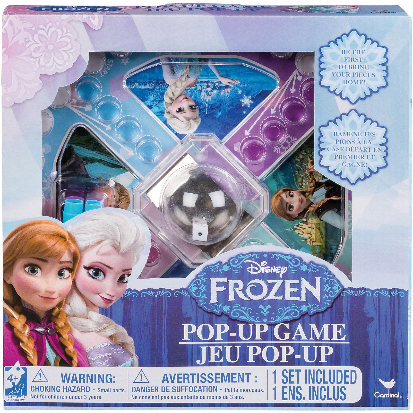 Настольная игра с кубиком и фишками Холодное Сердце, Spin MasterНастольные игры ходилки<br>Характеристики товара:<br><br>• возраст: от 4 лет;<br>• материал: пластик, картон;<br>• в комплекте: игровое поле, кубик, фишки;<br>• количество игроков: 2-4 человека;<br>• размер упаковки: 20х20х4 см;<br>• вес упаковки: 160 гр.;<br>• страна производитель: Китай.<br><br>Настольная игра «Холодное сердце» Spin Master создана по мотивам известного мультфильма «Холодное сердце». На игровом поле нарисованы любимые герои мультфильма — сестры Анна и Эльза, Кристоф и снеговичок Олаф. Игровое поле разбито на несколько зон разного цвета. Цель каждого игрока — быстрее всех провести фишки своего цвета по игровому полю. <br><br>Настольную игру «Холодное сердце» Spin Master можно приобрести в нашем интернет-магазине.<br><br>Ширина мм: 40<br>Глубина мм: 50<br>Высота мм: 200<br>Вес г: 186<br>Возраст от месяцев: 48<br>Возраст до месяцев: 2147483647<br>Пол: Женский<br>Возраст: Детский<br>SKU: 6873818