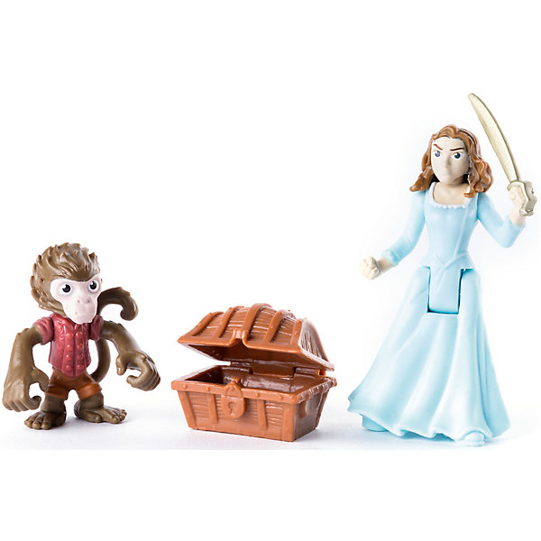 Набор фигурок Обезьянка, Карина с саблей и сундук, Spin Master, Пираты Карибского моря