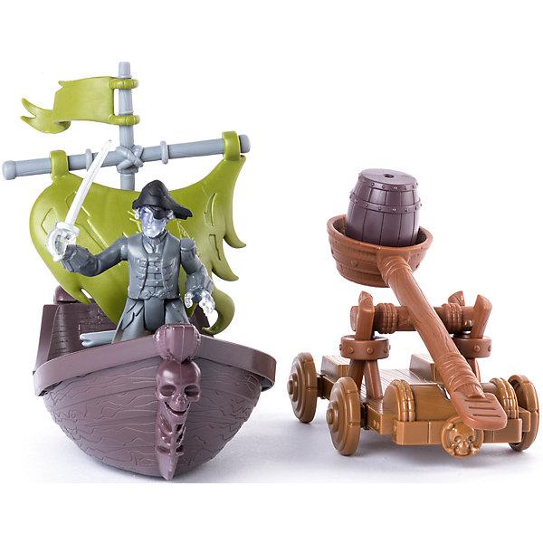 Фигурка героя с  лодкой и катапультой, Spin Master, Пираты Карибского моряФигурки из мультфильмов<br>Характеристики товара:<br><br>• возраст: от 4 лет;<br>• материал: пластик;<br>• в комплекте: фигурка, лодка, катапульта;<br>• длина лодки: 18 см;<br>• размер упаковки: 30х11х11 см;<br>• вес упаковки: 300 гр.;<br>• страна производитель: Китай.<br><br>Игровой набор «Фигурка героя с лодкой и катапультой» Пираты Карибского моря Spin Master создан по мотивам известного фильма «Пираты Карибского моря: Мертвецы не рассказывают сказки». В набор входят фигурка пирата-призрака, лодка и катапульта.<br><br>У лодки зеленые паруса, а на носовой части расположен череп. Катапульта стреляет пороховыми бочками. Набор позволит детям устроить захватывающие игры, сражения или воспроизвести сценки из фильма.<br><br>Игровой набор «Фигурка героя с лодкой и катапультой» Пираты Карибского моря Spin Master можно приобрести в нашем интернет-магазине.<br><br>Ширина мм: 60<br>Глубина мм: 290<br>Высота мм: 210<br>Вес г: 415<br>Возраст от месяцев: 48<br>Возраст до месяцев: 2147483647<br>Пол: Мужской<br>Возраст: Детский<br>SKU: 6873832
