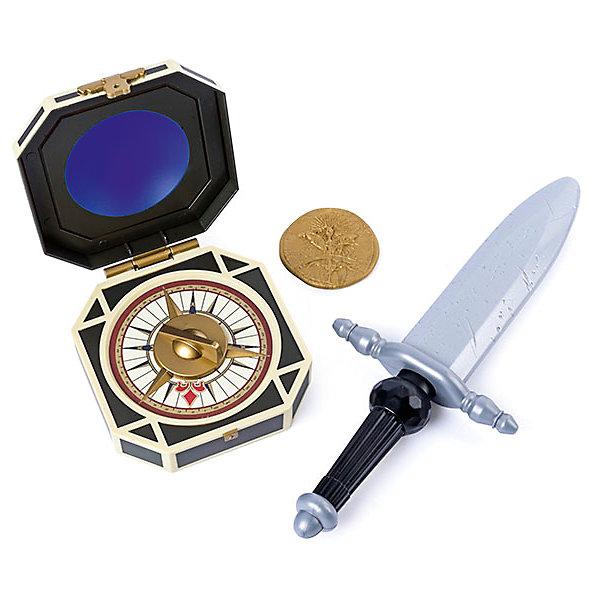 Набор Джека Воробья: пиратский кинжал, компас, монета, Spin Master, Пираты Карибского моряДругие наборы<br>Характеристики товара:<br><br>• возраст: от 4 лет;<br>• материал: пластик;<br>• в комплекте: компас, монета, кинжал;<br>• размер упаковки: 50х16х9 см;<br>• вес упаковки: 210 гр.;<br>• страна производитель: Китай.<br><br>Набор Джека Воробья «Пиратский кинжал, компас, монета» Пираты Карибского моря Spin Master создан по мотивам известного фильма «Пираты Карибского моря: Мертвецы не рассказывают сказки». В наборе неизменные атрибуты капитана Джека Воробья, с которыми дети могут устраивать игры и воспроизводить сценки из фильма.<br><br>Набор Джека Воробья «Пиратский кинжал, компас, монета» Пираты Карибского моря Spin Master можно приобрести в нашем интернет-магазине.<br>Ширина мм: 60; Глубина мм: 140; Высота мм: 380; Вес г: 390; Возраст от месяцев: 48; Возраст до месяцев: 2147483647; Пол: Мужской; Возраст: Детский; SKU: 6873833;