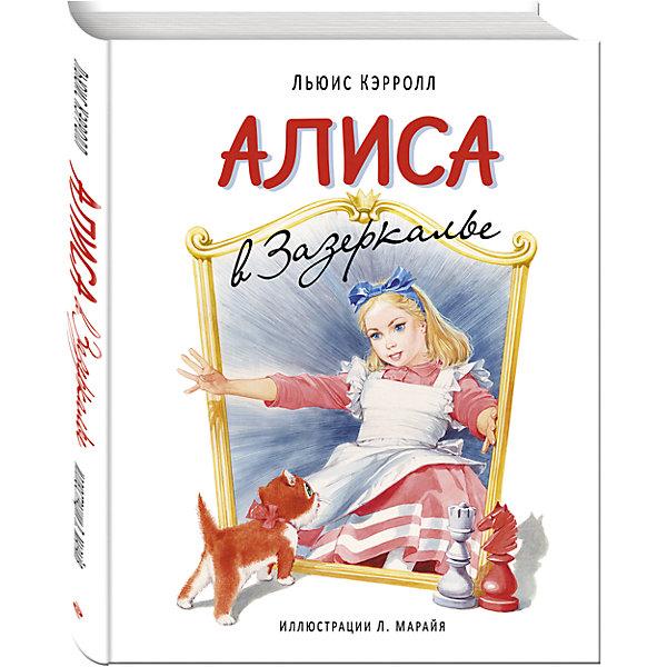 Алиса в Зазеркалье, ил. МарайяСказки<br>Характеристики:<br><br>• ISBN: 978-5-699-85499-8;<br>• возраст: 6+;<br>• формат: 70х100/8;<br>• бумага: мелованная; <br>• тип обложки: 7Б - твердая (плотная бумага или картон);<br>• иллюстрации: цветные;<br>• серия: Большие белые книги;<br>• издательство: Эксмо, 2016 г.;<br>• автор: Кэрролл Льюис;<br>• художник: Марайя Либико;<br>• переводчик: Ашкенази В.;<br>• редактор: Ермолаева В.;<br>• количество страниц: 144;<br>• размеры: 33,2х25х1,7 см;<br>• масса: 1246 г.<br><br>Сказку о приключениях Алисы в волшебной стране знает каждый человек. Путешествие в Зазеркалье будет настолько увлекательным для детей, что книга будет прочитана много-много раз. Необычное произведение Льюиса Кэрролла наполнено добром, приключениями и невиданной смелостью маленькой девочки.<br><br>Автор иллюстраций - Либико Марайя - создал волшебный и реалистичный мир на страницах этого издания.<br><br>Книгу «Алиса в Зазеркалье», Кэрролл Льюис, ил. Марайя Либико, Эксмо можно купить в нашем интернет-магазине.<br>Ширина мм: 330; Глубина мм: 240; Высота мм: 20; Вес г: 1250; Возраст от месяцев: 72; Возраст до месяцев: 168; Пол: Унисекс; Возраст: Детский; SKU: 6878196;