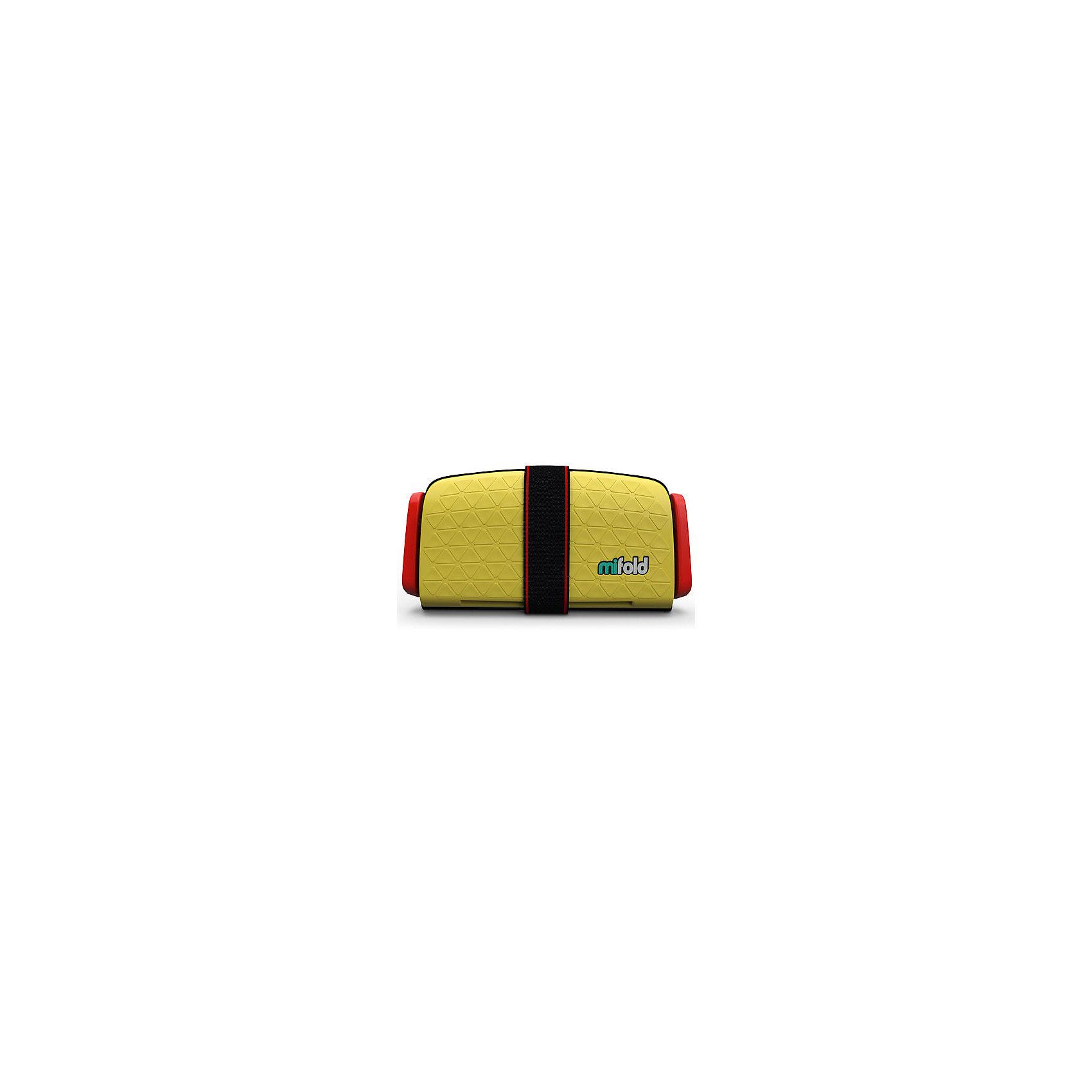 Автокресло-бустер Mifold 15-36 кг, taxi yellowБустеры<br>Характеристики товара:<br><br>• цвет: желтый;<br>• возраст: от 4 до 12 лет;<br>• в сложенном виде легко поместится в бардачок автомобиля;<br>• в разложенном виде имеет габариты в 10 раз меньше, чем стандартные бустеры других брендов;<br>• легко и быстро складывается до размеров 25.5х12.7 см;<br>• корпус бустера Mifold выполнен из алюминия марки 6061 и выдерживает сильнейшие нагрузки во время столкновения;<br>• вес: 750гр.;<br>• три положения ширины натяжителей ремней и возможность полностью менять высоту ремня, чтобы он проходил ровно по плечу ребенка;<br>• практичный в чистке: достаточно вымыть мыльным раствором и высушить.<br>• страна производства: Израиль.<br><br>Детское портативное автокресло-бустер Mifold - поистине уникальная находка для мобильных родителей. Этот невероятно компактный бустер имеет массу преимуществ и является уникальным в данной возрастной группе (4-12 лет).<br><br>Автокресло-бустер Mifold 15-36 кг можно купить в нашем интернет-магазине.<br><br>Ширина мм: 170<br>Глубина мм: 255<br>Высота мм: 75<br>Вес г: 950<br>Цвет: желтый<br>Возраст от месяцев: 48<br>Возраст до месяцев: 144<br>Пол: Унисекс<br>Возраст: Детский<br>SKU: 6878757