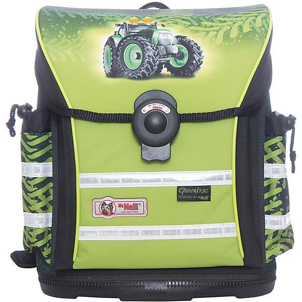Школьный рюкзак MC Neill  ERGO Light 912 ГринтракРанцы<br>Вместимость 18,5 л,  вес ранца 900 гр, удобный магнитный  замок, боковые карманы на кулиске регулируются ограничителями, дно из особо прочного пластика, ортопедическая спина, регулируемые ремни на мягких подушках. 34*37*20 см<br><br>Ширина мм: 34<br>Глубина мм: 37<br>Высота мм: 20<br>Вес г: 900<br>Возраст от месяцев: 72<br>Возраст до месяцев: 120<br>Пол: Мужской<br>Возраст: Детский<br>SKU: 6878782