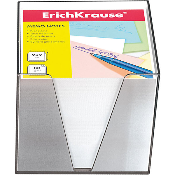 Erich Krause Бумага настольная  90*90*90 мм в пластиковом контейнереБумажная продукция<br>Характеристики товара:<br><br>• размер бумаги: 90х90х90 мм;<br>• высота блока: 5 см;<br>• плотность бумаги: 80 г/м2;<br>• материал: бумага, пластик;<br>• размер упаковки: 9х9х9 см;<br>• вес: 651 грамм.<br><br>Настольная бумага Erich Krause отлично подойдет для написания заметок и важной информации. Набор упакован в пластиковый контейнер, который делает использование бумаги еще удобнее. Бумага компактно хранится на рабочем столе, не занимая много места. В комплект входит бумага плотностью 80 г/м2.<br><br>Erich Krause (Эрих Краузе) Бумагу настольную  90*90*90 мм в пластиковом контейнере можно купить в нашем интернет-магазине.<br>Ширина мм: 90; Глубина мм: 90; Высота мм: 90; Вес г: 650; Возраст от месяцев: 144; Возраст до месяцев: 2147483647; Пол: Унисекс; Возраст: Детский; SKU: 6878805;