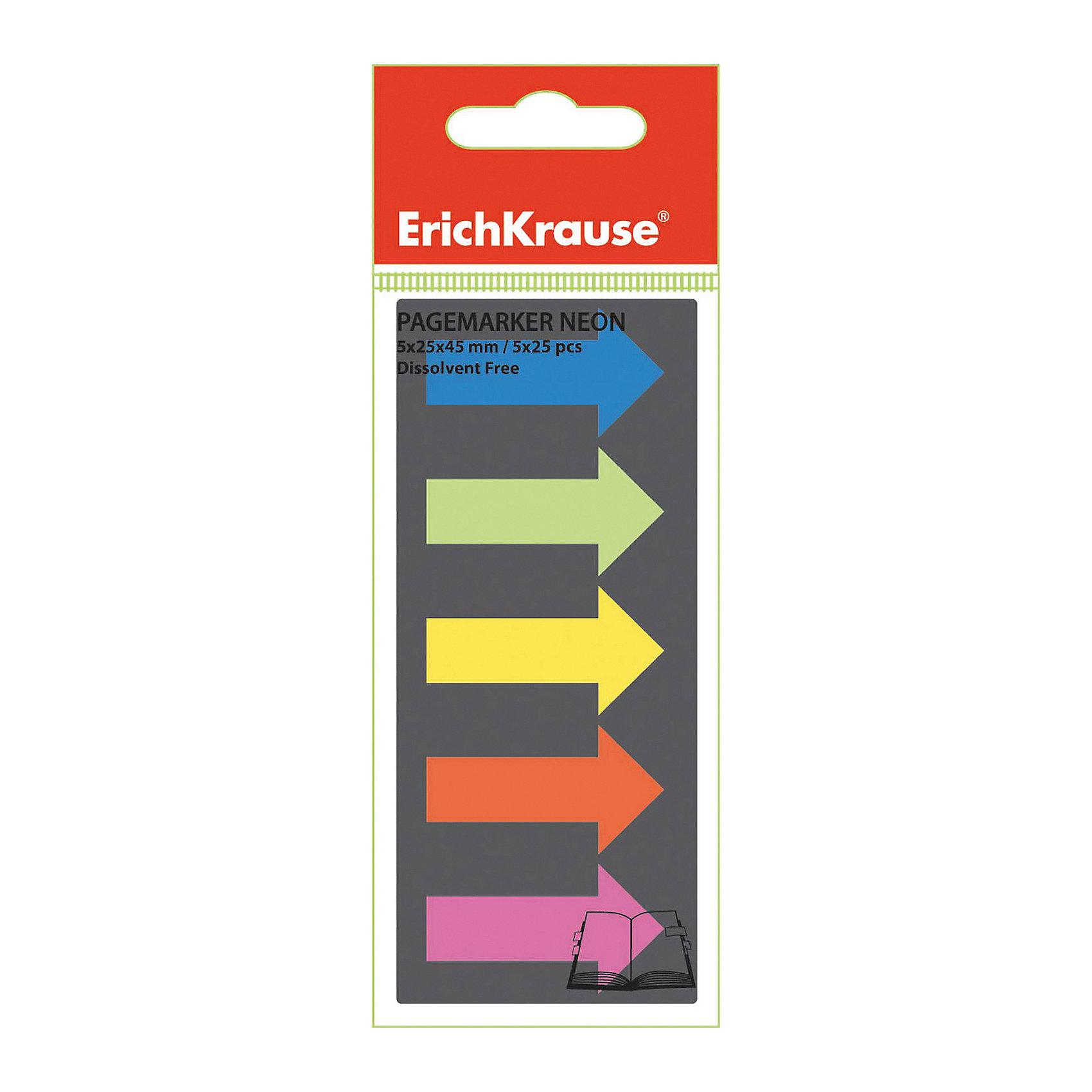 Erich Krause Пластиковые флажки с клеевым краем 5х25х45 неон СтрелкиБумажная продукция<br>Характеристики товара:<br><br>• в комплекте: флажки с клеевым краем;<br>• цвета: синий, салатовый, желтый, оранжевый, розовый;<br>• размер флажка: 2,5х4,5 см;<br>• материал: пластик;<br>• размер упаковки: 1,5х6х6 см;<br>• вес: 8 грамм.<br><br>Набор флажков «Стрелки» поможет выделить и сохранить нужную страницу или предложение. Клеевая сторона располагается на странице книги или блокнота и легко снимется, не оставляя следов. Флажки выполнены в ярких неоновых цветах.<br><br>Erich Krause (Эрих Краузе) Пластиковые флажки с клеевым краем 5х25х45 неон Стрелки можно купить в нашем интернет-магазине.<br><br>Ширина мм: 60<br>Глубина мм: 60<br>Высота мм: 15<br>Вес г: 7<br>Возраст от месяцев: 144<br>Возраст до месяцев: 2147483647<br>Пол: Унисекс<br>Возраст: Детский<br>SKU: 6878814