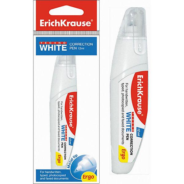 Купить Erich Krause Ручка-корректор TECHNO WHITE Ergo, 12 мл, в пакетике, Малайзия, Унисекс
