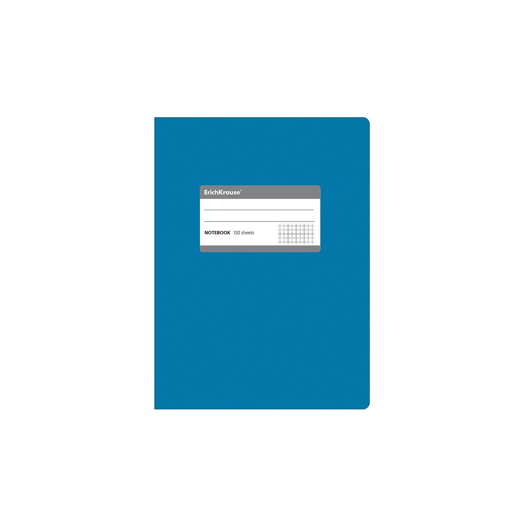 Erich Krause Тетрадь общая c титульной этикеткой А5, ONE COLOR, 120 листов, клеткаБумажная продукция<br>Характеристики товара: <br><br>• количество листов: 120;<br>• формат: А5;<br>• цвет: синий;<br>• плотность бумаги: 60 г/м2;<br>• размер упаковки: 1,5х15х21 см;<br>• вес: 256 грамм.<br><br>Общая тетрадь ONE COLOR предназначена для старшеклассников, студентов и тех, кому необходимо записывать большой объем информации. 120 листов тетради разлинованы в клетку без полей. Бумага отличается высокой прочностью, благодаря чему писать на ней можно любыми чернилами.<br><br>Обложка тетради изготовлена из плотного картона с фактурным ламинированием. Она сохранит опрятный вид тетради и защитит ее от намокания и изнашивания. На титульном листе есть этикетка для внесения данных о владельце.<br><br>Erich Krause (Эрих Краузе) Тетрадь общую c титульной этикеткой А5, ONE COLOR, 120 листов, клетка можно купить в нашем интернет-магазине.<br><br>Ширина мм: 210<br>Глубина мм: 150<br>Высота мм: 15<br>Вес г: 255<br>Возраст от месяцев: 144<br>Возраст до месяцев: 2147483647<br>Пол: Унисекс<br>Возраст: Детский<br>SKU: 6878822