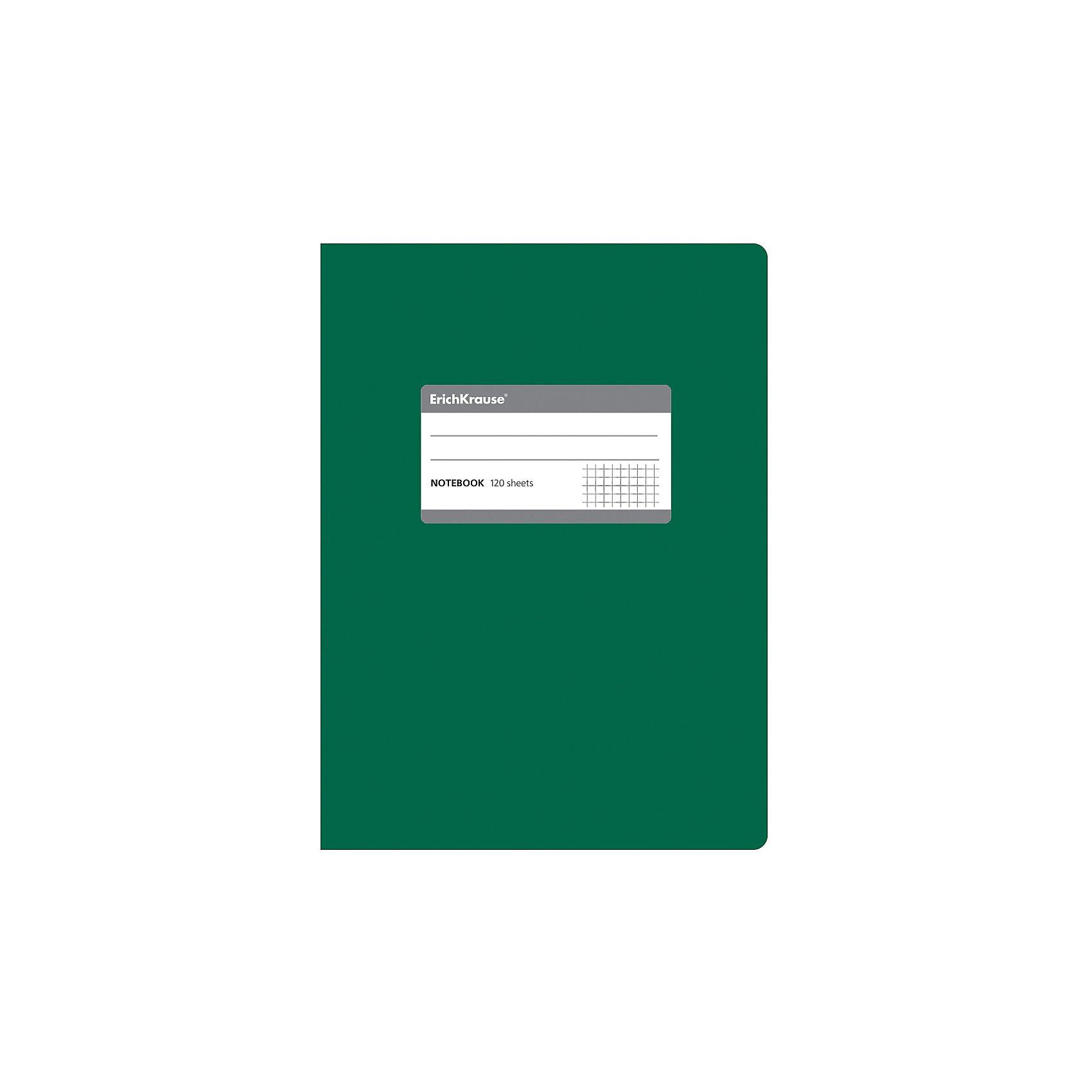 Erich KrauseТетрадь общая c титульной этикеткой А5, ONE COLOR, 120 листов, клеткаБумажная продукция<br>Характеристики товара: <br><br>• количество листов: 120;<br>• формат: А5;<br>• цвет: зеленый;<br>• плотность бумаги: 60 г/м2;<br>• размер упаковки: 1,5х15х21 см;<br>• вес: 256 грамм.<br><br>Общая тетрадь ONE COLOR предназначена для старшеклассников, студентов и тех, кому необходимо записывать большой объем информации. 120 листов тетради разлинованы в клетку без полей. Бумага отличается высокой прочностью, благодаря чему писать на ней можно любыми чернилами.<br><br>Обложка тетради изготовлена из плотного картона с фактурным ламинированием. Она сохранит опрятный вид тетради и защитит ее от намокания и изнашивания. На титульном листе есть этикетка для внесения данных о владельце.<br><br>Erich Krause (Эрих Краузе) Тетрадь общую c титульной этикеткой А5, ONE COLOR, 120 листов, клетка можно купить в нашем интернет-магазине.<br><br>Ширина мм: 210<br>Глубина мм: 150<br>Высота мм: 15<br>Вес г: 255<br>Возраст от месяцев: 144<br>Возраст до месяцев: 2147483647<br>Пол: Унисекс<br>Возраст: Детский<br>SKU: 6878824