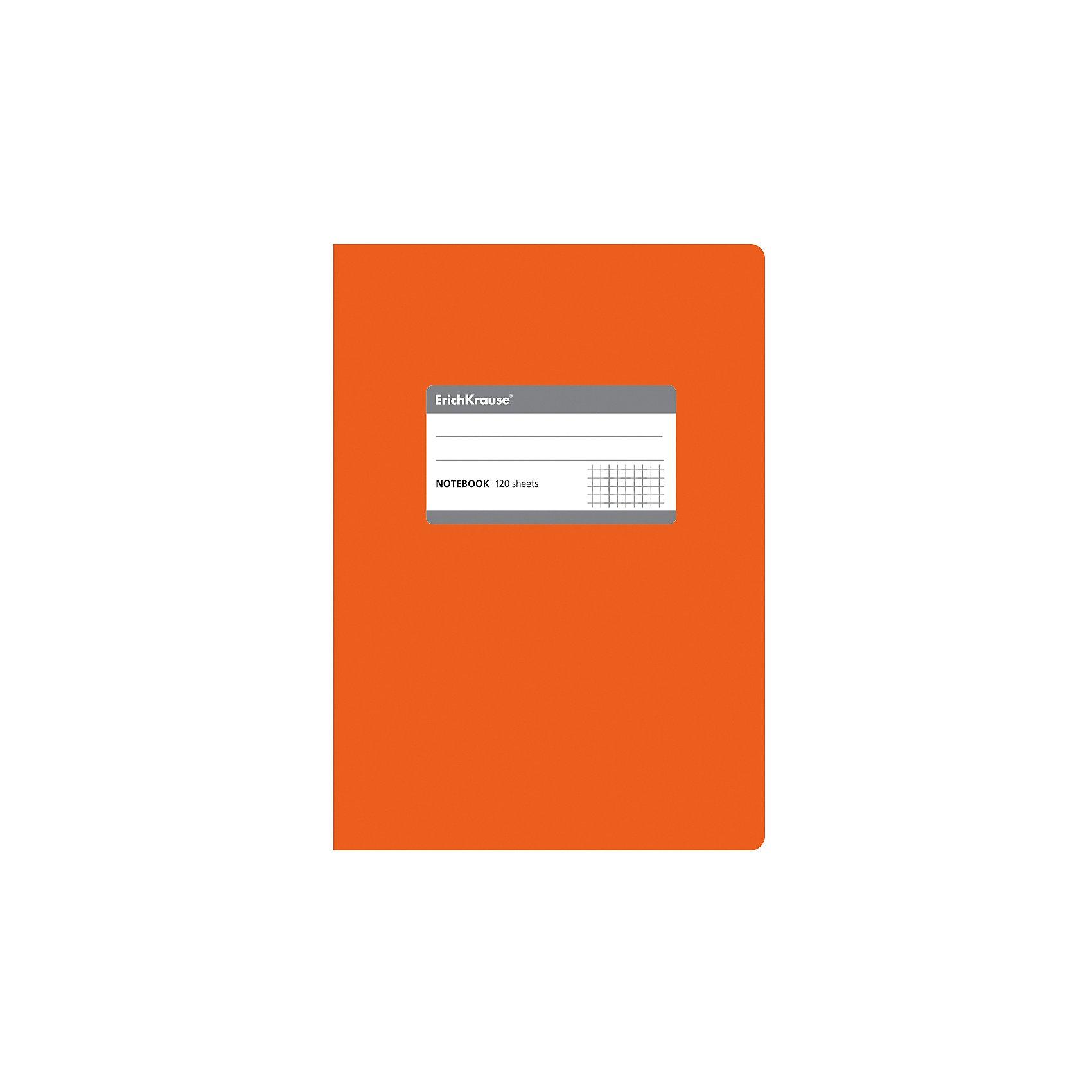 Erich Krause Тетрадь общая c титульной этикеткой А5, FLUOR, 120 листов, клеткаБумажная продукция<br>Характеристики товара: <br><br>• количество листов: 120;<br>• формат: А5;<br>• цвет: оранжевый;<br>• плотность бумаги: 60 г/м2;<br>• размер упаковки: 1,5х15х21 см;<br>• вес: 256 грамм.<br><br>Общая тетрадь ONE COLOR предназначена для старшеклассников, студентов и тех, кому необходимо записывать большой объем информации. 120 листов тетради разлинованы в клетку без полей. Бумага отличается высокой прочностью, благодаря чему писать на ней можно любыми чернилами.<br><br>Обложка тетради изготовлена из плотного картона с фактурным ламинированием. Она сохранит опрятный вид тетради и защитит ее от намокания и изнашивания. На титульном листе есть этикетка для внесения данных о владельце.<br><br>Erich Krause (Эрих Краузе) Тетрадь общую c титульной этикеткой А5, ONE COLOR, 120 листов, клетка можно купить в нашем интернет-магазине.<br><br>Ширина мм: 210<br>Глубина мм: 150<br>Высота мм: 15<br>Вес г: 255<br>Возраст от месяцев: 144<br>Возраст до месяцев: 2147483647<br>Пол: Унисекс<br>Возраст: Детский<br>SKU: 6878825