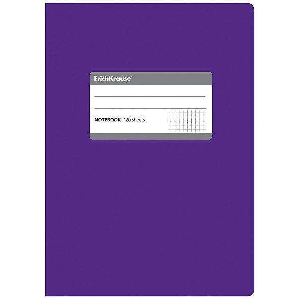Erich Krause Тетрадь общая c титульной этикеткой А5, FLUOR, 120 листов, клеткаБумажная продукция<br>Характеристики товара: <br><br>• количество листов: 120;<br>• формат: А5;<br>• цвет: фиолетовый;<br>• плотность бумаги: 60 г/м2;<br>• размер упаковки: 1,5х15х21 см;<br>• вес: 256 грамм.<br><br>Общая тетрадь ONE COLOR предназначена для старшеклассников, студентов и тех, кому необходимо записывать большой объем информации. 120 листов тетради разлинованы в клетку без полей. Бумага отличается высокой прочностью, благодаря чему писать на ней можно любыми чернилами.<br><br>Обложка тетради изготовлена из плотного картона с фактурным ламинированием. Она сохранит опрятный вид тетради и защитит ее от намокания и изнашивания. На титульном листе есть этикетка для внесения данных о владельце.<br><br>Erich Krause (Эрих Краузе) Тетрадь общую c титульной этикеткой А5, ONE COLOR, 120 листов, клетка можно купить в нашем интернет-магазине.<br><br>Ширина мм: 210<br>Глубина мм: 150<br>Высота мм: 15<br>Вес г: 255<br>Возраст от месяцев: 144<br>Возраст до месяцев: 2147483647<br>Пол: Унисекс<br>Возраст: Детский<br>SKU: 6878826