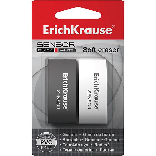 Erich Krause Набор 2 ластика SENSOR Black&amp;White,  в блистереЧертежные принадлежности<br>Характеристики товара:<br><br>• в комплекте: 2 ластика;<br>• цвет: черный, белый;<br>• размер: 5х1,8х2,3 см;<br>• размер упаковки: 4х4х7 см;<br>• вес: 63 грамма.<br><br>Sensor Black&amp;White - набор из двух ластиков от известного бренда Erich Krause. Ластики изготовлены из экологически чистых материалов и выполнены в привлекательном современном дизайне. Они легко удаляют написанное карандашом, не оставляя следов и разводов.<br><br>Erich Krause (Эрих Краузе) Набор 2 ластика SENSOR Black&amp;White,  в блистере можно купить в нашем интернет-магазине.<br>Ширина мм: 70; Глубина мм: 40; Высота мм: 40; Вес г: 62; Возраст от месяцев: 84; Возраст до месяцев: 2147483647; Пол: Унисекс; Возраст: Детский; SKU: 6878847;