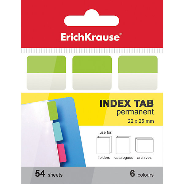 Erich Krause Архивные закладки с клеевым краем 6х22х25ммБумажная продукция<br>Характеристики товара:<br><br>• в комплекте: 54 закладки;<br>• количество цветов: 6;<br>• размер закладки: 6х22х25 мм;<br>• размер упаковки: 1,5х4х7 см;<br>• вес: 18 грамм.<br><br>С помощью набора от известного бренда Erich Krause очень удобно делать закладки, чтобы быстро находить нужную информацию. В комплект входят 54 закладки, выполненных в шести ярких цветах. Клеевой край легко приклеивается практически к любой поверхности. Не оставляет следов после использования. Подходит только для однократного применения.<br><br>Erich Krause (Эрих Краузе) Архивные закладки с клеевым краем  6х22х25мм можно купить в нашем интернет-магазине.<br>Ширина мм: 70; Глубина мм: 40; Высота мм: 15; Вес г: 18; Возраст от месяцев: 144; Возраст до месяцев: 2147483647; Пол: Унисекс; Возраст: Детский; SKU: 6878854;