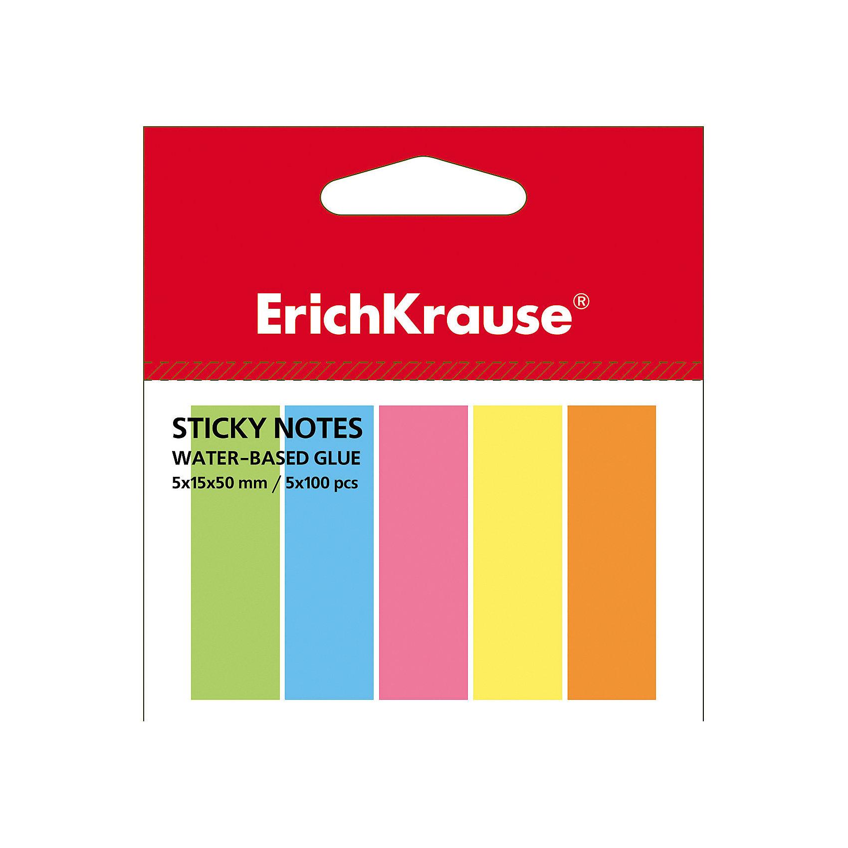 Erich Krause Флажки с клеевым краем Erich Krause 5х15х50 неонБумажная продукция<br>Характеристики товара:<br><br>• количество листов: 500;<br>• цвета: желтый, розовый, зеленый, голубой, оранжевый;<br>• размер флажка: 5х15х50 мм;<br>• материал: бумага;<br>• размер упаковки: 1,5х4х7 см;<br>• вес: 33 грамма.<br><br>Флажки Erich Krause помогут сделать компактные закладки на страницах книг и тетрадей. Клеевой край надежно крепится к поверхности листа и легко снимается, не оставляя следов. На закладке можно написать необходимую информацию. В набор входят 5 блоков по 100 листов, выполненных в ярких неоновых цветах: розовый, зеленый, желтый, оранжевый, голубой.<br><br>Erich Krause (Эрих Краузе) Флажки с клеевым краем Erich Krause 5х15х50 неон можно купить в нашем интернет-магазине.<br><br>Ширина мм: 70<br>Глубина мм: 40<br>Высота мм: 15<br>Вес г: 33<br>Возраст от месяцев: 120<br>Возраст до месяцев: 2147483647<br>Пол: Унисекс<br>Возраст: Детский<br>SKU: 6878865