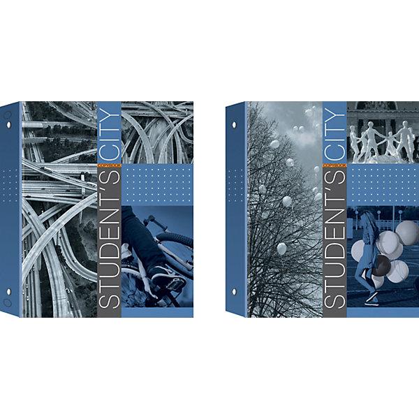 Купить Полиграфика Тетрадь на кольцах А5, клетка 80л ламинат Student's City + 1 сменный блок, Россия, Унисекс
