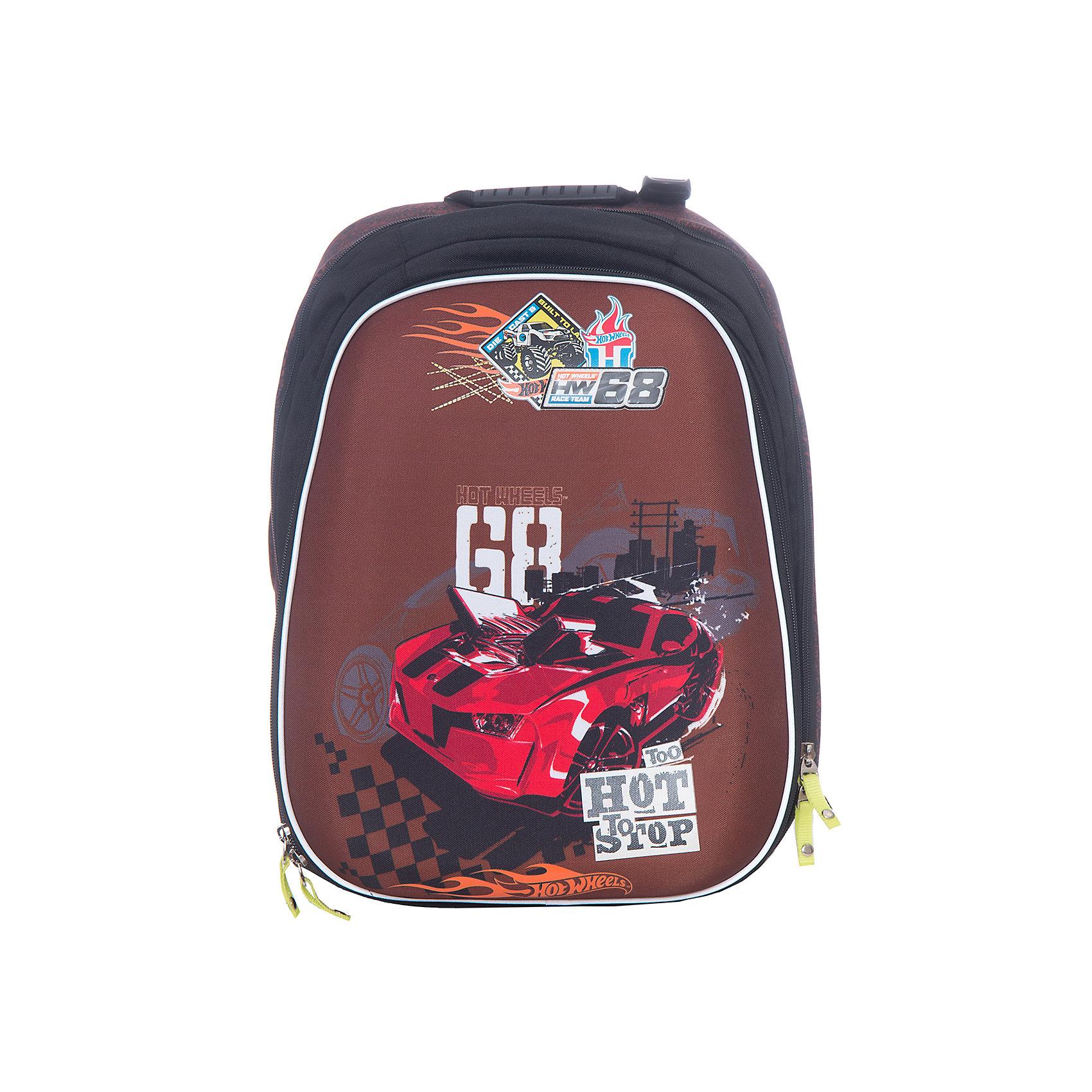 Mattel Рюкзак с эргономичной спинкой Hot Wheels Racing ( модель Com.Pack )Hot Wheels<br><br><br>Ширина мм: 400<br>Глубина мм: 280<br>Высота мм: 170<br>Вес г: 1327<br>Возраст от месяцев: 108<br>Возраст до месяцев: 132<br>Пол: Мужской<br>Возраст: Детский<br>SKU: 6878889