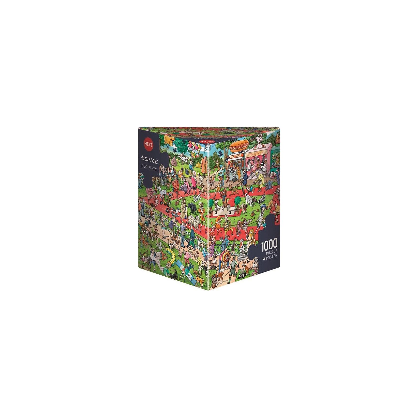 Пазлы Выставка собак, 1000 деталей, HeyeПазлы для детей постарше<br>Характеристики товара:<br><br>• возраст: от 8 лет<br>• количество деталей: 1000 деталей <br>• размер собранного пазла: 70х50 см.<br>• материал: картон<br>• упаковка: картонная коробка в форме треугольника<br>• размер упаковки: 37х27х5 см.<br>• вес: 840 гр.<br>• страна обладатель бренда: Германия<br><br>Яркие элементы  пазла образуют веселую  и жизнерадостную картину, которую можно рассматривать бесконечно, как взрослым так и детям. Сюжет картины поразит своим воображением и  прекрасно дополнит интерьер любой комнаты. <br><br>Оригинальная упаковка пазла в виде треугольника отлично подойдет в качестве подарка.<br><br>Качественный материал элементов пазла позволяет  собрать и сохранить картину, создавая в меру глянцевый эффект (а значит не сильно бликующий) и хорошую сцепку деталей.<br><br>Сбор элементов в одно изображение способствует развитию образного и логического мышления и является увлекательным и интересным процессом.<br><br>Пазл Выставка собак, 1000 деталей, HEYE ( ХАЙЕ) можно купить в нашем интернет-магазине.<br><br>Ширина мм: 371<br>Глубина мм: 55<br>Высота мм: 271<br>Вес г: 840<br>Возраст от месяцев: 216<br>Возраст до месяцев: 2147483647<br>Пол: Унисекс<br>Возраст: Детский<br>SKU: 6881431