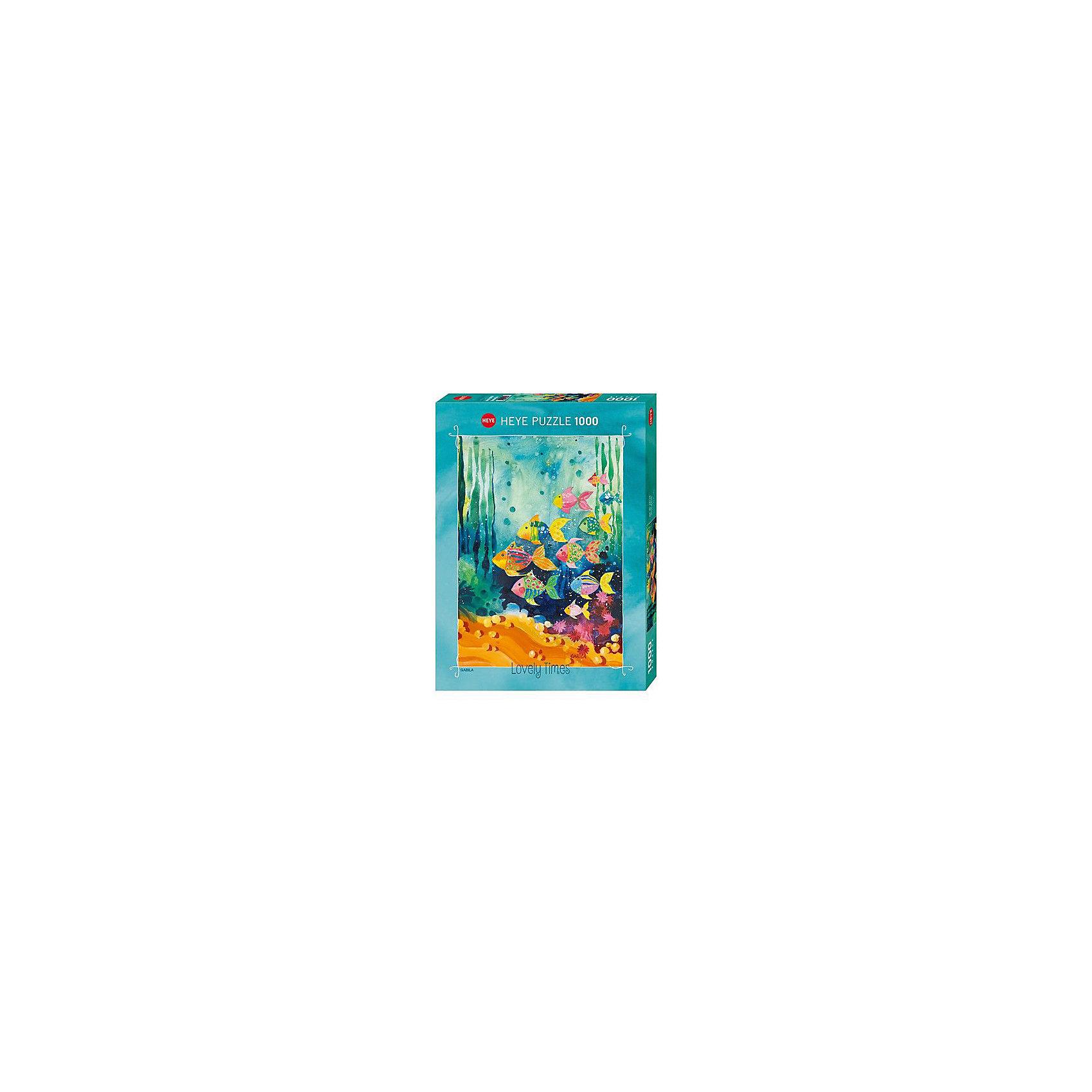 Пазлы Стая рыбок, 1000 деталей, HeyeПазлы для детей постарше<br>Характеристики товара:<br><br>• возраст: от 8 лет<br>• количество деталей: 1000 деталей <br>• размер собранного пазла: 50х70 см.<br>• материал: картон<br>• упаковка: картонная коробка <br>• размер упаковки: 27х37х5 см.<br>• вес: 840 гр.<br>• страна обладатель бренда: Германия<br><br>Яркие и красочные элементы  пазла образуют картину Стаи рыбок, которая отлично впишется в интерьер детской комнаты. <br><br>Качественный материал элементов пазла позволяет  собрать и сохранить картину, создавая в меру глянцевый эффект (а значит не сильно бликующий) и хорошую сцепку деталей.<br><br>Сбор элементов в одно изображение способствует развитию образного и логического мышления, атакже является увлекательным и интересным процессом.<br><br>Пазл Стая рыбок, 1000 деталей, HEYE ( ХАЙЕ) можно купить в нашем интернет-магазине.<br><br>Ширина мм: 371<br>Глубина мм: 55<br>Высота мм: 271<br>Вес г: 840<br>Возраст от месяцев: 216<br>Возраст до месяцев: 2147483647<br>Пол: Унисекс<br>Возраст: Детский<br>SKU: 6881437