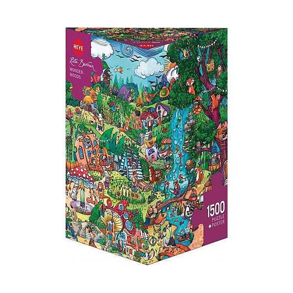Пазлы Сказочный лес, 1500 деталей, HeyeПазлы классические<br>Характеристики товара:<br><br>• возраст: от 8 лет<br>• количество деталей: 1500 деталей <br>• размер собранного пазла: 80х60 см.<br>• материал: картон<br>• упаковка: картонная коробка в форме треугольника<br>• размер упаковки: 35х27х14 см.<br>• вес: 860 гр.<br>• страна обладатель бренда: Германия<br>                                                                                                                       Яркие элементы  пазла образуют картину сказочного леса, которую можно рассматривать бесконечно, как взрослым так и детям. Сюжет картины поразит своим воображением и  прекрасно дополнит интерьер любой комнаты. <br><br>Оригинальная упаковка пазла в виде треугольника отлично подойдет в качестве оригинального незабываемого подарка подарка.<br><br>Качественный материал элементов пазла позволяет  собрать и сохранить картину, создавая в меру глянцевый эффект (а значит не сильно бликующий) и хорошую сцепку деталей.<br><br>Сбор элементов в одно изображение способствует развитию образного и логического мышления, атакже является увлекательным и интересным процессом.<br><br>Пазл Сказочный лес, 1500 деталей, HEYE ( ХАЙЕ) можно купить в нашем интернет-магазине.<br><br>Ширина мм: 350<br>Глубина мм: 140<br>Высота мм: 270<br>Вес г: 860<br>Возраст от месяцев: 216<br>Возраст до месяцев: 2147483647<br>Пол: Унисекс<br>Возраст: Детский<br>SKU: 6881441