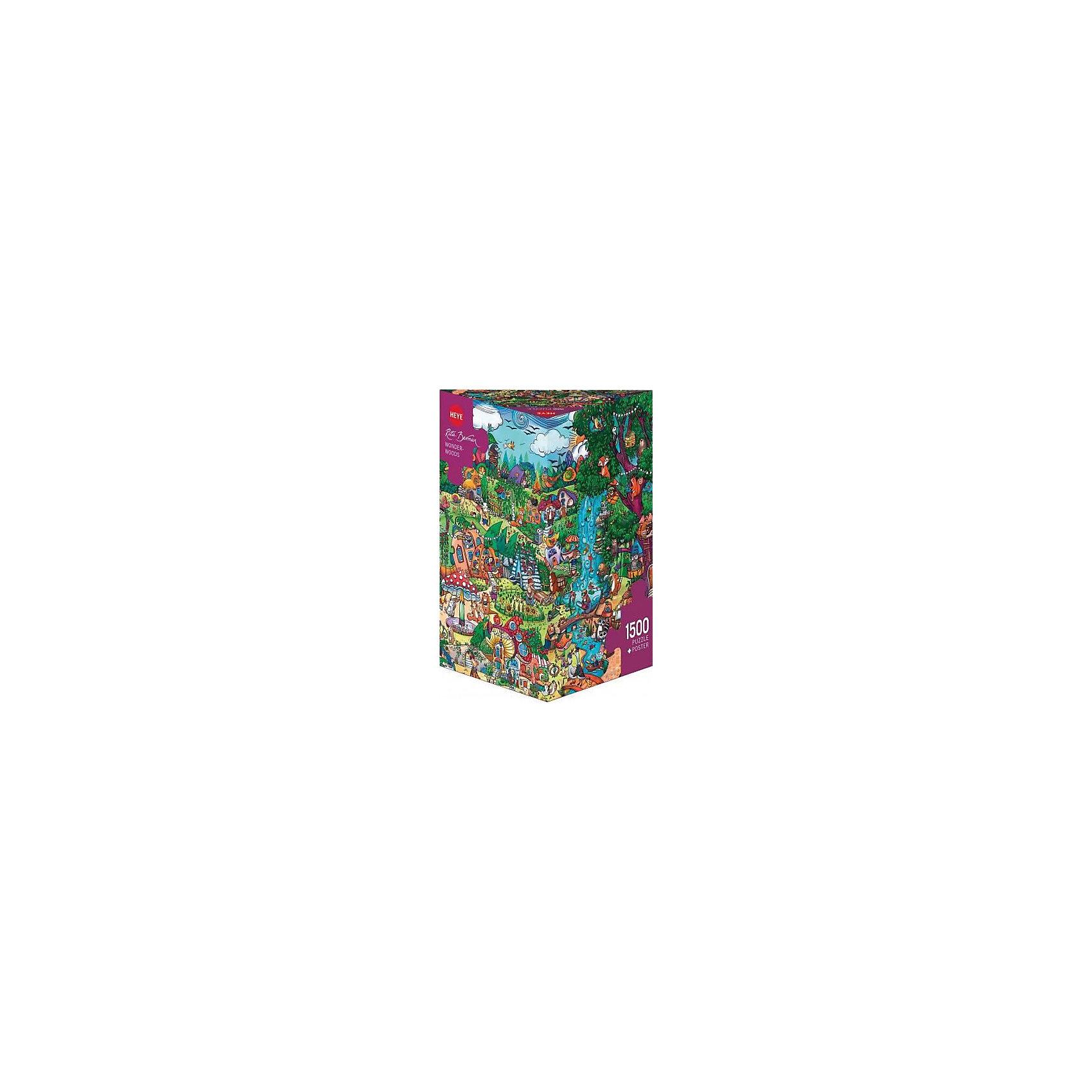 Пазлы Сказочный лес, 1500 деталей, HeyeПазлы для детей постарше<br>Характеристики товара:<br><br>• возраст: от 8 лет<br>• количество деталей: 1500 деталей <br>• размер собранного пазла: 80х60 см.<br>• материал: картон<br>• упаковка: картонная коробка в форме треугольника<br>• размер упаковки: 35х27х14 см.<br>• вес: 860 гр.<br>• страна обладатель бренда: Германия<br>                                                                                                                       Яркие элементы  пазла образуют картину сказочного леса, которую можно рассматривать бесконечно, как взрослым так и детям. Сюжет картины поразит своим воображением и  прекрасно дополнит интерьер любой комнаты. <br><br>Оригинальная упаковка пазла в виде треугольника отлично подойдет в качестве оригинального незабываемого подарка подарка.<br><br>Качественный материал элементов пазла позволяет  собрать и сохранить картину, создавая в меру глянцевый эффект (а значит не сильно бликующий) и хорошую сцепку деталей.<br><br>Сбор элементов в одно изображение способствует развитию образного и логического мышления, атакже является увлекательным и интересным процессом.<br><br>Пазл Сказочный лес, 1500 деталей, HEYE ( ХАЙЕ) можно купить в нашем интернет-магазине.<br><br>Ширина мм: 350<br>Глубина мм: 140<br>Высота мм: 270<br>Вес г: 860<br>Возраст от месяцев: 216<br>Возраст до месяцев: 2147483647<br>Пол: Унисекс<br>Возраст: Детский<br>SKU: 6881441