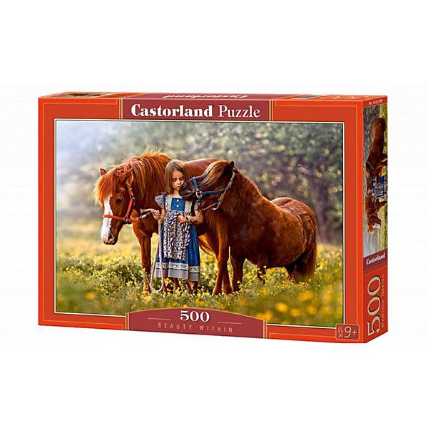 Пазлы Лошади, 500 деталей, CastorlandПазлы классические<br>Характеристики:<br><br>• размер упаковки: 22х32х4,5см.;<br>• количество элементов: 500шт.;<br>• размер готовой картинки: 47х33см.;<br>• материал: картон;<br>• вес: 350г.;<br>• для детей в возрасте: от 9 лет;<br>• страна производитель: Польша;<br><br> Красочный пазл «Лошади» бренда Castorland (Касторланд) станет замечательным экземпляром для домашней коллекции головоломок. Это лицензионный пазл сделанный из экологически чистых материалов, которые безопасны для детей.<br><br>Мозаика имеет пятьсот разноцветных элементов, что делает сборку интереснее и труднее. Быстрее с пазлом справятся дети, которые уже имеют опыт игры с пазлами. В составлении картинки могут участвовать все члены семьи, что очень объединяет.<br><br>Собранный пазл превращается в настоящее произведение искусства. Большая яркая картина может украсить интерьер любой комнаты. Её цвета мягкие и спокойные, они не напрягают глаза, и дарят ощущение спокойствия.<br><br>Составление пазлов помогает детям развивать образное и логическое мышление, внимательность, учит правильно воспринимать связь между частью и целым, усидчивость, мелкую моторику, просто с пользой провести время.<br><br>Пазл «Лошади», можно купить в нашем интернет-магазине.<br><br>Ширина мм: 320<br>Глубина мм: 47<br>Высота мм: 220<br>Вес г: 500<br>Возраст от месяцев: 72<br>Возраст до месяцев: 2147483647<br>Пол: Унисекс<br>Возраст: Детский<br>SKU: 6881584