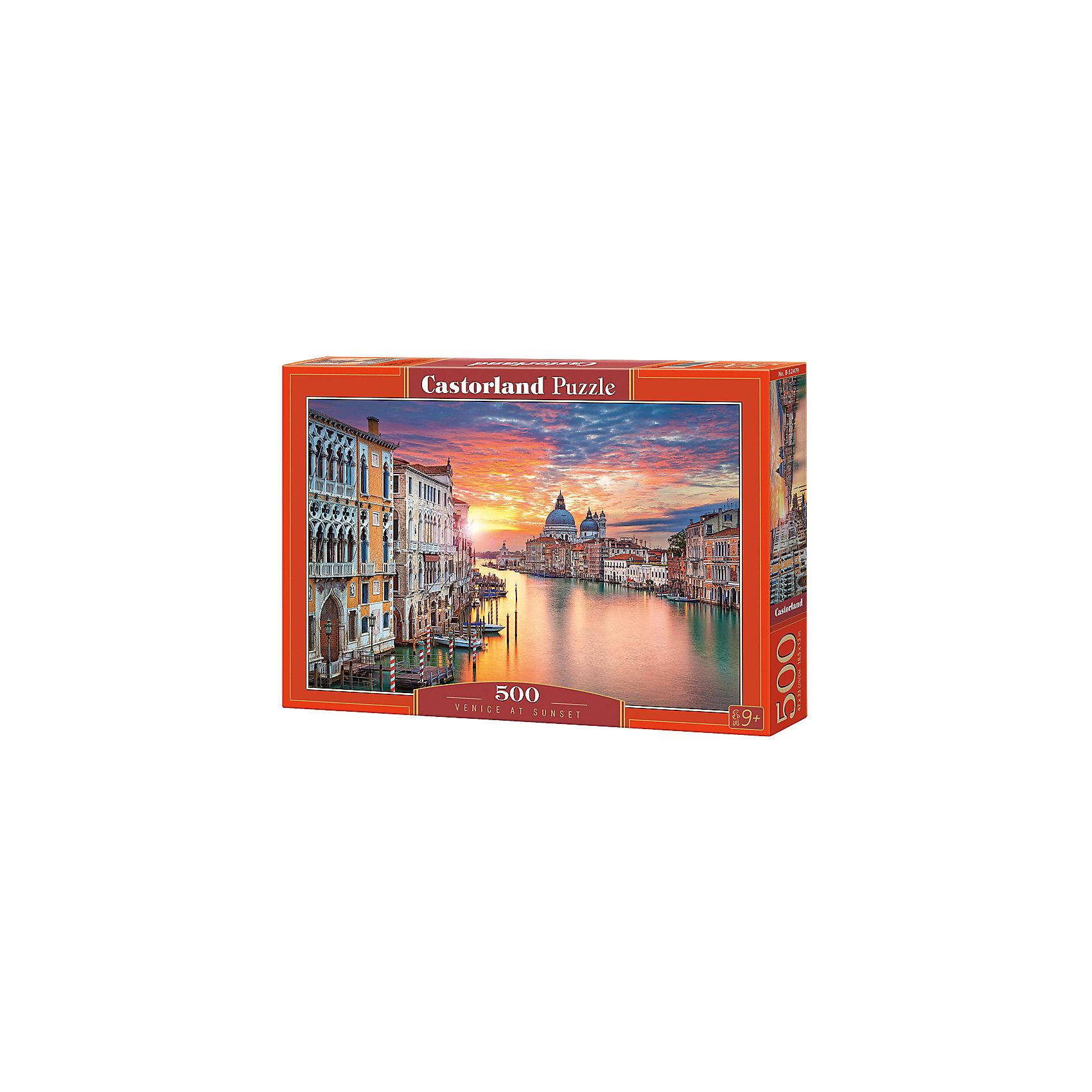 Пазлы Венеция на закате  , 500 деталей, CastorlandКлассические пазлы<br>Изображение:Венеция на закате. Кол-во деталей 500.<br><br>Ширина мм: 320<br>Глубина мм: 47<br>Высота мм: 220<br>Вес г: 500<br>Возраст от месяцев: 72<br>Возраст до месяцев: 2147483647<br>Пол: Унисекс<br>Возраст: Детский<br>SKU: 6881587