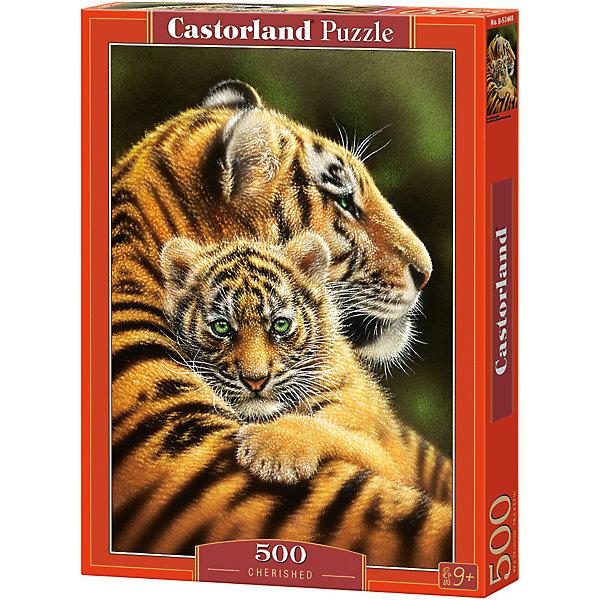 Пазлы Тигры   , 500 деталей, CastorlandПазлы классические<br>. Характеристики:<br><br>• размер упаковки: 22х32х4,5см.;<br>• количество элементов: 500шт.;<br>• размер готовой картинки: 47х33см.;<br>• материал: картон;<br>• вес: 308г.;<br>• для детей в возрасте: от 9 лет;<br>• страна производитель: Польша;<br><br> Красочный пазл «Тигры» бренда Castorland (Касторланд) станет замечательным экземпляром для домашней коллекции головоломок. Это лицензионный пазл сделанный из экологически чистых материалов, которые безопасны для детей.<br><br>Мозаика имеет пятьсот разноцветных элементов, что делает сборку интереснее и труднее. Быстрее с пазлом справятся дети, которые уже имеют опыт игры с пазлами. В составлении картинки могут участвовать все члены семьи, что очень объединяет.<br><br>Собранный пазл превращается в настоящее произведение искусства. Большая яркая картина может украсить интерьер любой комнаты. Её цвета мягкие и спокойные, они не напрягают глаза, и дарят ощущение спокойствия.<br><br>Составление пазлов помогает детям развивать образное и логическое мышление, внимательность, учит правильно воспринимать связь между частью и целым, усидчивость, мелкую моторику, просто с пользой провести время.<br><br>Пазл «Тигры», можно купить в нашем интернет-магазине<br><br>Ширина мм: 320<br>Глубина мм: 47<br>Высота мм: 220<br>Вес г: 500<br>Возраст от месяцев: 72<br>Возраст до месяцев: 2147483647<br>Пол: Унисекс<br>Возраст: Детский<br>SKU: 6881590