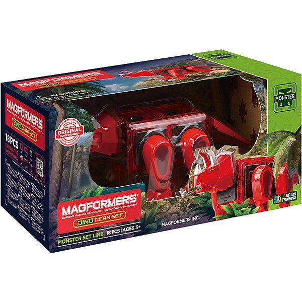 Магнитный конструктор 716002 Dino Cera set, MAGFORMERSМагнитные конструкторы<br>Характеристики товара:<br><br>• возраст: от 3 лет;<br>• материал: пластик;<br>• в комплекте: 18 деталей, инструкция;<br>• размер упаковки: 41х19х19 см;<br>• вес упаковки: 1 кг;<br>• страна производитель: Корея.<br><br>Магнитный конструктор Dino Cera set Magformers позволит детям фигурку одного из доисторических обитателей нашей планеты — динозавра трицератопса. Конструктор Magformers — удивительный конструктор, детали которого соединяются между собой благодаря магнитам. Магниты внутри элементов уже сделаны таким образом, что позволяют им присоединяться и поворачиваться друг к другу нужной стороной.<br><br>В набор входят подвижные детали для динозавра, благодаря которым он сможет двигать головой, хвостом, лапами. Конструктор развивает у детей пространственное и логическое мышление, мелкую моторику рук, воображение и фантазию. Элементы выполнены из прочного качественного пластика.<br><br>Магнитный конструктор Dino Cera set Magformers можно приобрести в нашем интернет-магазине.<br><br>Ширина мм: 190<br>Глубина мм: 410<br>Высота мм: 190<br>Вес г: 1000<br>Возраст от месяцев: 36<br>Возраст до месяцев: 2147483647<br>Пол: Унисекс<br>Возраст: Детский<br>SKU: 6881966