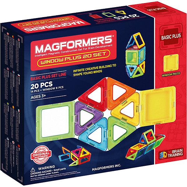 Магнитный конструктор 715001 Window Plus Set 20 set, MAGFORMERSМагнитные конструкторы<br>Характеристики товара:<br><br>• возраст: от 3 лет;<br>• материал: пластик;<br>• в комплекте: 20 деталей, инструкция;<br>• размер упаковки: 24х28х5 см;<br>• вес упаковки: 550 гр.;<br>• страна производитель: Корея.<br><br>Магнитный конструктор Window Plus Set 20 set Magformers позволит детям построить из элементов разнообразные фигурки, дома, башни, машины, животных. Детали конструктора соединяются между собой благодаря магнитам. Магниты внутри деталей уже сделаны таким образом, что позволяют элементам присоединяться и поворачиваться друг к другу нужной стороной.<br><br>В набор входит инструкция, которая поможет малышам создать свои первые фигурки. Конструктор развивает у детей пространственное и логическое мышление, мелкую моторику рук, воображение и фантазию. Элементы выполнены из прочного качественного пластика.<br><br>Магнитный конструктор Window Plus Set 20 set Magformers можно приобрести в нашем интернет-магазине.<br><br>Ширина мм: 240<br>Глубина мм: 280<br>Высота мм: 50<br>Вес г: 550<br>Возраст от месяцев: 36<br>Возраст до месяцев: 2147483647<br>Пол: Унисекс<br>Возраст: Детский<br>SKU: 6881968