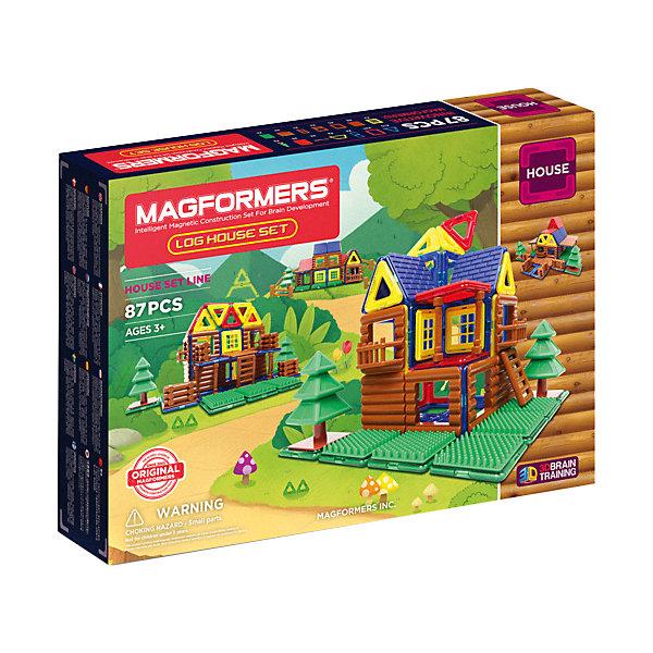 Магнитный конструктор 705004 Log House Set, MAGFORMERSМагнитные конструкторы<br>Характеристики товара:<br><br>• возраст: от 3 лет;<br>• материал: пластик;<br>• в комплекте: 87 деталей, инструкция;<br>• размер упаковки: 44х32х6 см;<br>• вес упаковки: 1,5 кг;<br>• страна производитель: Корея.<br><br>Магнитный конструктор Log House Set Magformers позволит детям собрать небольшую деревушку из элементов. В наборе представлены особые детали, похожие на деревянные бревна, благодаря которым получаются деревянные домики. <br><br>Конструктор Magformers — удивительный конструктор, детали которого соединяются между собой благодаря магнитам. Магниты внутри элементов уже сделаны таким образом, что позволяют им присоединяться и поворачиваться друг к другу нужной стороной.<br><br>Конструктор развивает у детей пространственное и логическое мышление, мелкую моторику рук, воображение и фантазию. Элементы выполнены из прочного качественного пластика.<br><br>Магнитный конструктор Log House Set Magformers можно приобрести в нашем интернет-магазине.<br>Ширина мм: 320; Глубина мм: 440; Высота мм: 60; Вес г: 1500; Возраст от месяцев: 36; Возраст до месяцев: 2147483647; Пол: Унисекс; Возраст: Детский; SKU: 6881972;