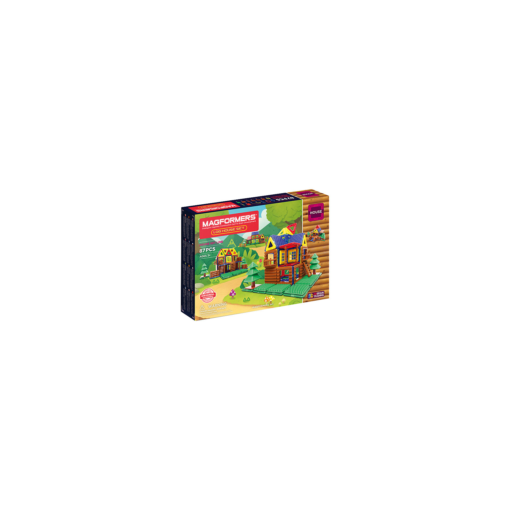Магнитный конструктор 705004 Log House Set, MAGFORMERSМагнитные конструкторы<br>Характеристики товара:<br><br>• возраст: от 3 лет;<br>• материал: пластик;<br>• в комплекте: 87 деталей, инструкция;<br>• размер упаковки: 44х32х6 см;<br>• вес упаковки: 1,5 кг;<br>• страна производитель: Корея.<br><br>Магнитный конструктор Log House Set Magformers позволит детям собрать небольшую деревушку из элементов. В наборе представлены особые детали, похожие на деревянные бревна, благодаря которым получаются деревянные домики. <br><br>Конструктор Magformers — удивительный конструктор, детали которого соединяются между собой благодаря магнитам. Магниты внутри элементов уже сделаны таким образом, что позволяют им присоединяться и поворачиваться друг к другу нужной стороной.<br><br>Конструктор развивает у детей пространственное и логическое мышление, мелкую моторику рук, воображение и фантазию. Элементы выполнены из прочного качественного пластика.<br><br>Магнитный конструктор Log House Set Magformers можно приобрести в нашем интернет-магазине.<br><br>Ширина мм: 320<br>Глубина мм: 440<br>Высота мм: 60<br>Вес г: 1500<br>Возраст от месяцев: 36<br>Возраст до месяцев: 2147483647<br>Пол: Унисекс<br>Возраст: Детский<br>SKU: 6881972