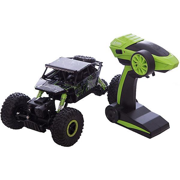 Радиоуправляемая машина Краулер, 1:18, черно-зеленая, HBРадиоуправляемые машины<br><br>Ширина мм: 990; Глубина мм: 380; Высота мм: 710; Вес г: 1060; Возраст от месяцев: 36; Возраст до месяцев: 168; Пол: Унисекс; Возраст: Детский; SKU: 6883998;
