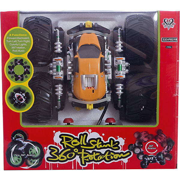 Радиоуправляемая машинка трюковая, желто-красная, ZCРадиоуправляемые машины<br><br>Ширина мм: 850; Глубина мм: 360; Высота мм: 780; Вес г: 1120; Возраст от месяцев: 36; Возраст до месяцев: 168; Пол: Унисекс; Возраст: Детский; SKU: 6884000;