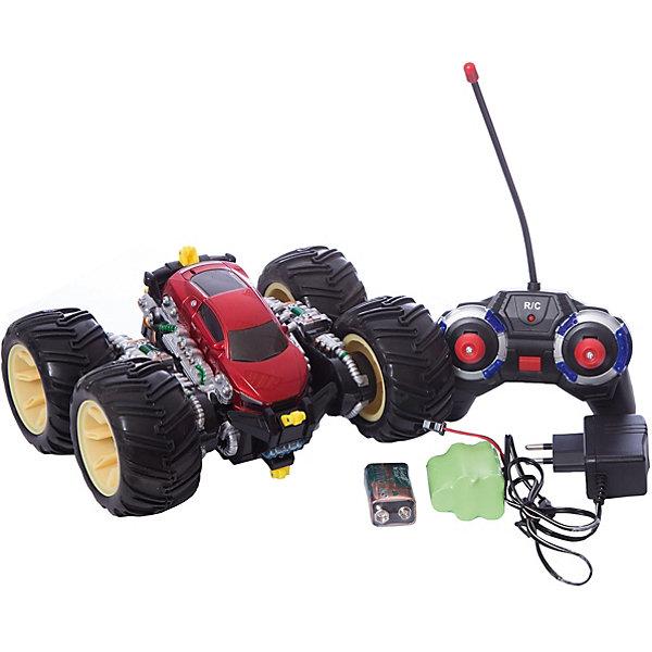 Радиоуправляемая машинка трюковая, черно-красная, ZCРадиоуправляемые машины<br><br>Ширина мм: 850; Глубина мм: 360; Высота мм: 780; Вес г: 1120; Возраст от месяцев: 36; Возраст до месяцев: 168; Пол: Унисекс; Возраст: Детский; SKU: 6884001;
