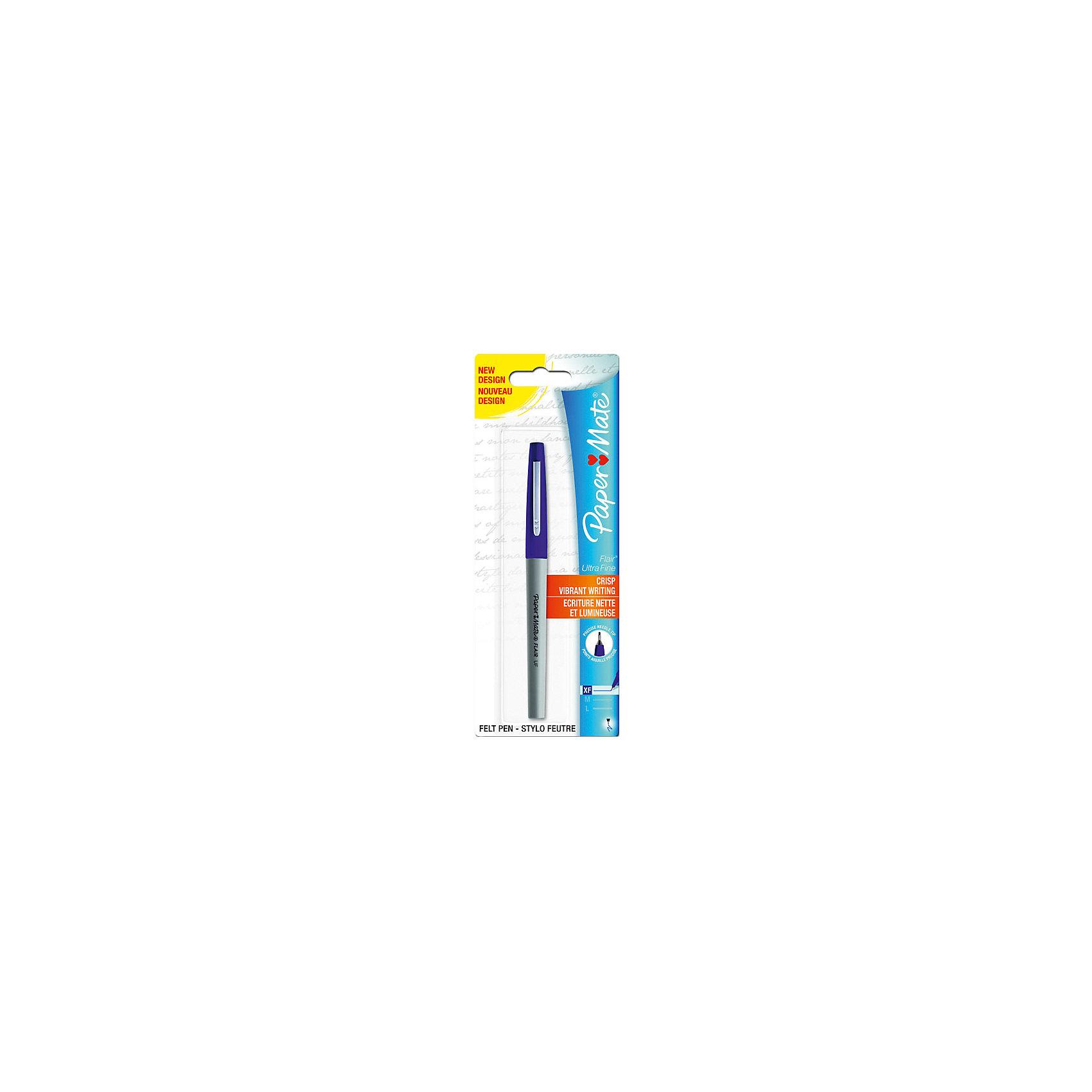 Ручка капилярная Paper mate Flair Uf, синяяПисьменные принадлежности<br>Характеристики товара:<br><br>• тип ручки: шариковая;<br>• цвет чернил: синий, красный, зеленый, черный;<br>• материал: пластик;<br>• размер упаковки: 1х1х14 см;<br>• вес: 16 грамм;<br>• возраст: от 3 лет.<br><br>Шариковая ручка FLAIR UP - универсальный помощник в учебе. Ручка состоит из чернил четырех цветов: синий, черный, зеленый и красный. Чернила быстро высыхают и не оставляют пятен на бумаге. Колпачок ручки дополнен зажимом для удобного ношения в кармане.<br><br>PAPER MATE (Пэйпер Мэйт) Ручку FLAIR UF можно купить в нашем интернет-магазине.<br><br>Ширина мм: 140<br>Глубина мм: 10<br>Высота мм: 10<br>Вес г: 16<br>Возраст от месяцев: 36<br>Возраст до месяцев: 2147483647<br>Пол: Унисекс<br>Возраст: Детский<br>SKU: 6884849
