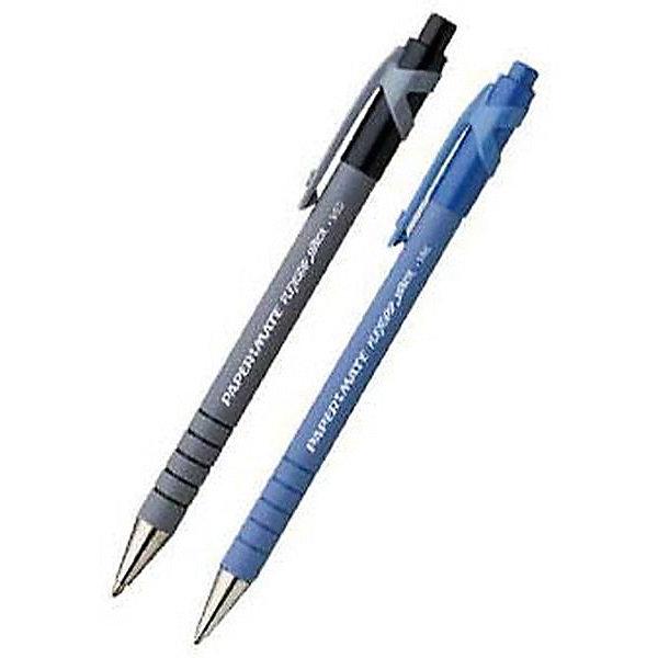 Ручка шариковая Paper mate Flexgrip Ultra 2 шт., синяяПисьменные принадлежности<br>Характеристики товара:<br><br>• в комплекте: 2 ручки;<br>• тип ручки: шариковая;<br>• прорезиненный корпус;<br>• цвет чернил: синий;<br>• ширина линии: 0,8 мм;<br>• размер упаковки: 1х3х17 см;<br>• вес: 33 грамма;<br>• возраст: от 3 лет.<br><br>Шариковые ручки FLEXGRIP ULTRA имеют прорезиненный корпус и кольца в зоне захвата, что обеспечивает правильный захват  и комфортное письмо. Ручка оснащена кнопочным механизмом. В комплект входят две ручки с синими чернилами. Чернила оставляют ровные четкие линии, быстро высыхают и сохраняют яркость цвета.<br><br>PAPER MATE (Пэйпер Мэйт) Ручку шариковую с кнопочным механизмом FLEXGRIP ULTRA можно купить в нашем интернет-магазине.<br>Ширина мм: 170; Глубина мм: 30; Высота мм: 10; Вес г: 33; Возраст от месяцев: 36; Возраст до месяцев: 2147483647; Пол: Унисекс; Возраст: Детский; SKU: 6884870;