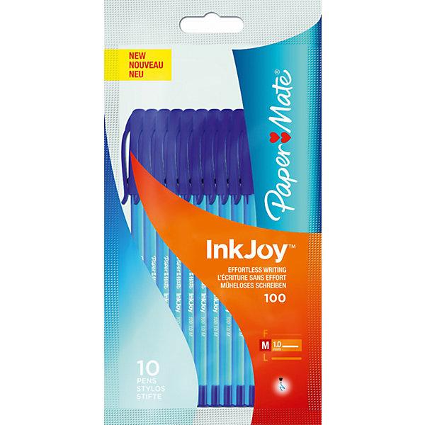 Ручка шариковая Paper mate Inkjoy 10 шт., синяяПисьменные принадлежности<br>Характеристики товара:<br><br>• в комплекте: 10 ручек;<br>• цвет чернил: синий;<br>• материал корпуса: пластик;<br>• толщина линии: 1 мм;<br>• размер упаковки: 1х10х17 см;<br>• вес: 80 грамм;<br>• возраст: от 3 лет.<br><br>INK JOY - высококачественные шариковые ручки от PAPER MATE. В набор входят 10 шариковых ручек с чернилами синего цвета. Ручка не требует расписывания и не оставляет пропусков при письме. Корпус изготовлен из прочного пластика. Толщина линии - 1 мм.<br><br>PAPER MATE (Пэйпер Мэйт) Ручку шариковую INK JOY можно купить в нашем интернет-магазине.<br><br>Ширина мм: 170<br>Глубина мм: 100<br>Высота мм: 10<br>Вес г: 80<br>Возраст от месяцев: 36<br>Возраст до месяцев: 2147483647<br>Пол: Унисекс<br>Возраст: Детский<br>SKU: 6884880