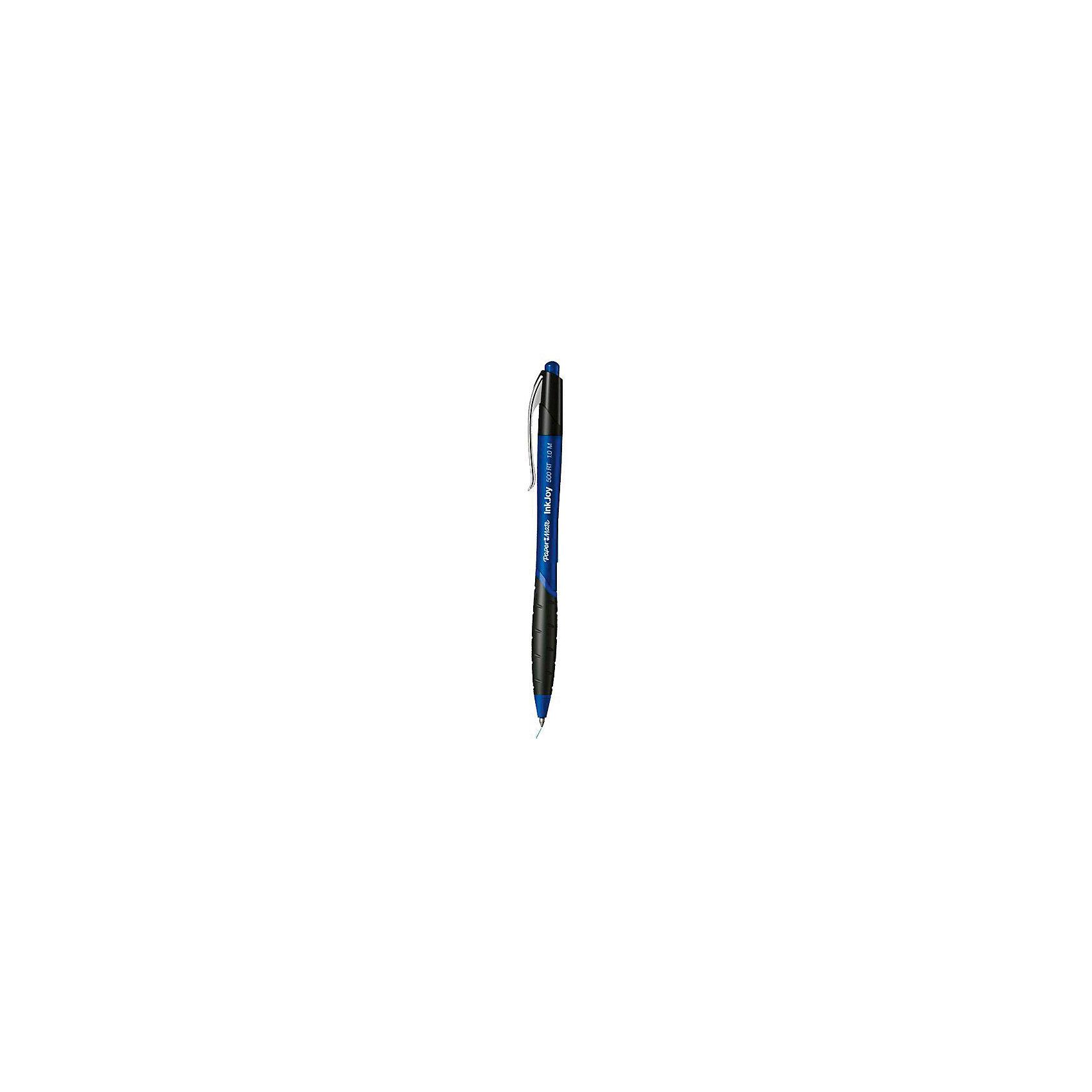 Ручка шариковая Paper mate Inkjoy 500, синяяПисьменные принадлежности<br>Прорезиненная зона захвата. Металлический зажим. Цвет чернил - синий. Диаметр шарика 0,5 мм<br><br>Ширина мм: 140<br>Глубина мм: 10<br>Высота мм: 10<br>Вес г: 9<br>Возраст от месяцев: 36<br>Возраст до месяцев: 2147483647<br>Пол: Унисекс<br>Возраст: Детский<br>SKU: 6884883
